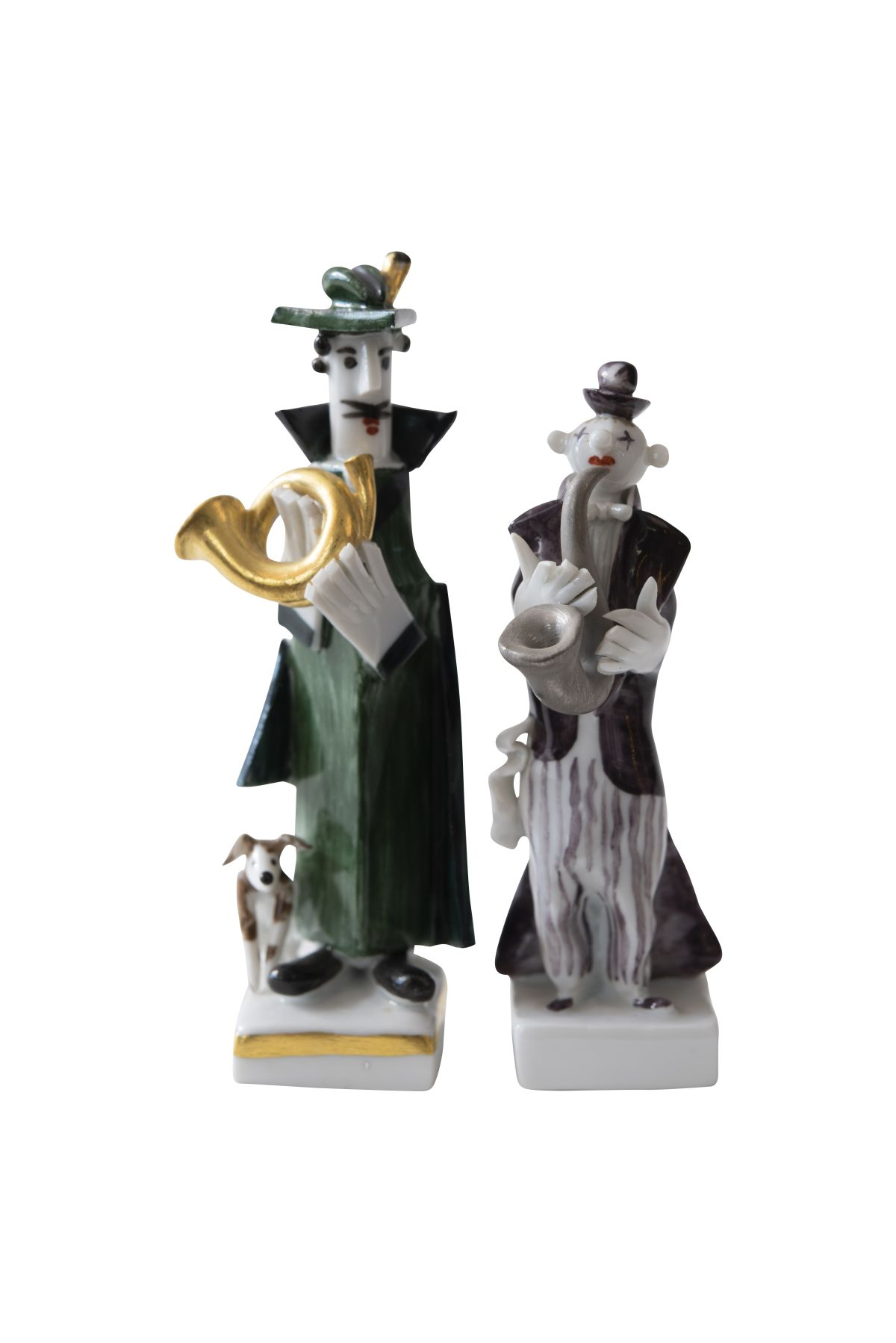 #122 2 porcelain figures Meissen 20th century | 2 Porzellan Figuren Meissen 20. Jahrhundert Image