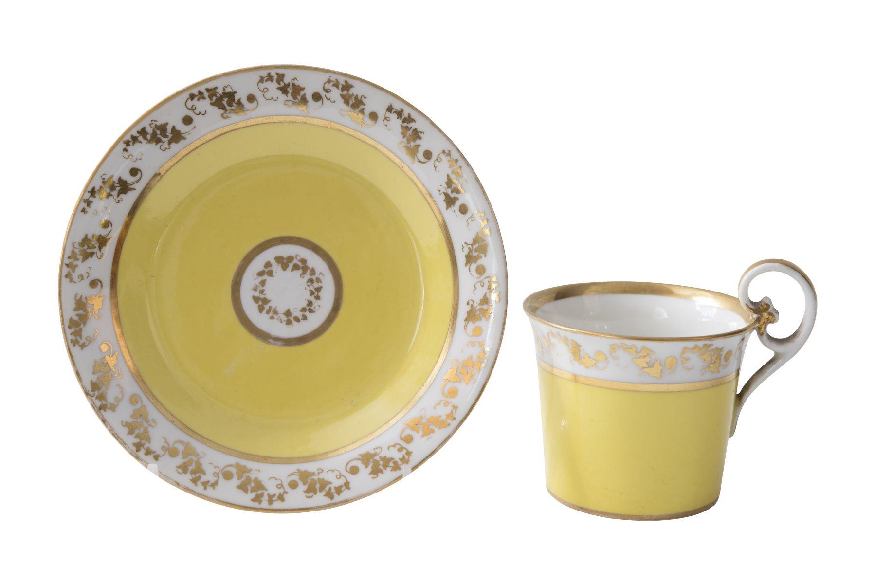 #128 Vienna porcelain cup and saucer | Wiener Porzellan Tasse und Untertasse Image