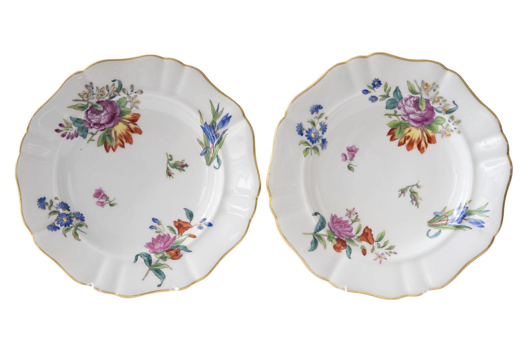 #130 A pair of flower plates | Paar Blumenteller Kaiserliche Manufaktur Wien um 1850/54 Image