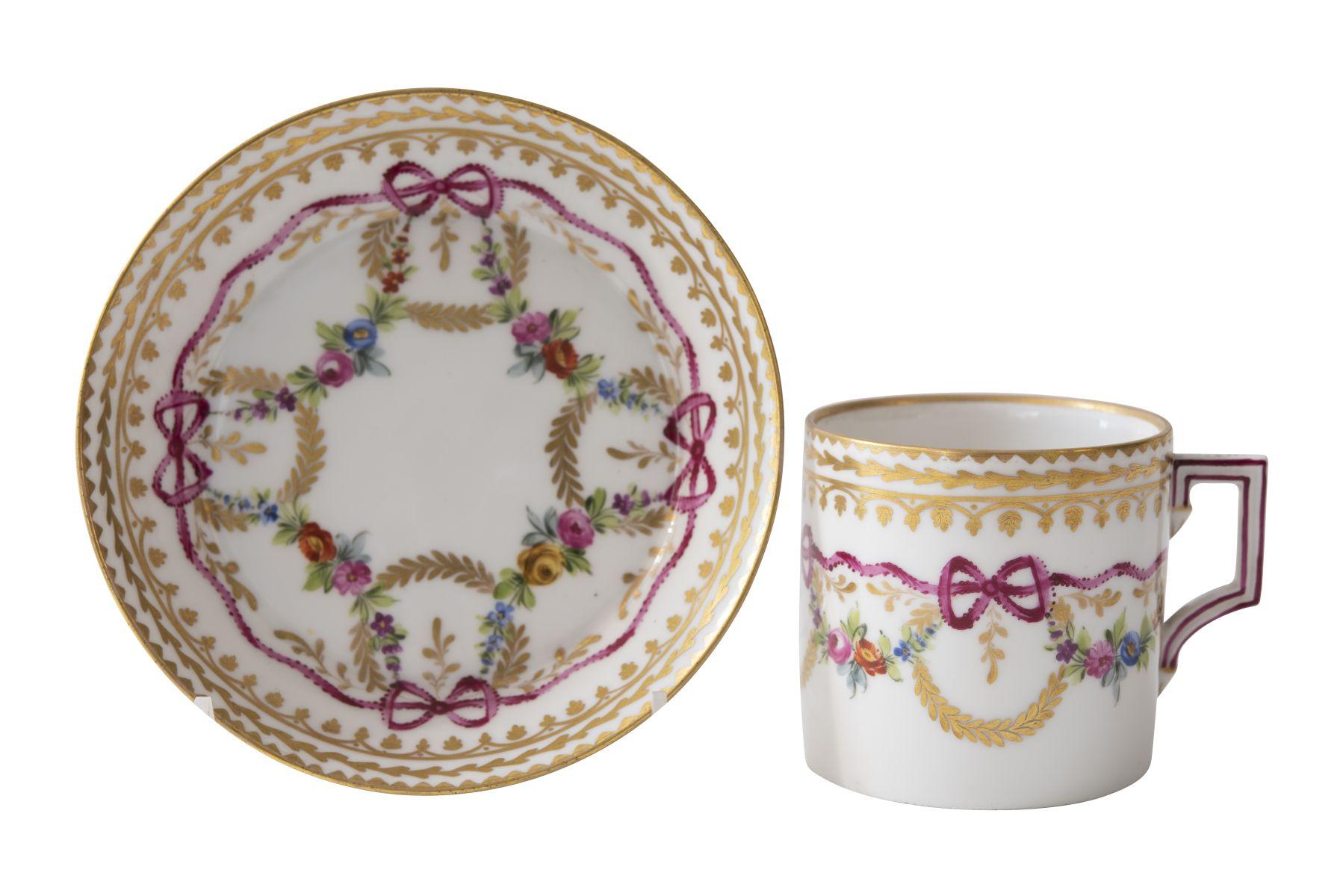 #137 Coffee cup with saucer, Augarten probably end of 18th century   Kaffeetasse mit Unterschale, Augarten Ende 18. Jh Image