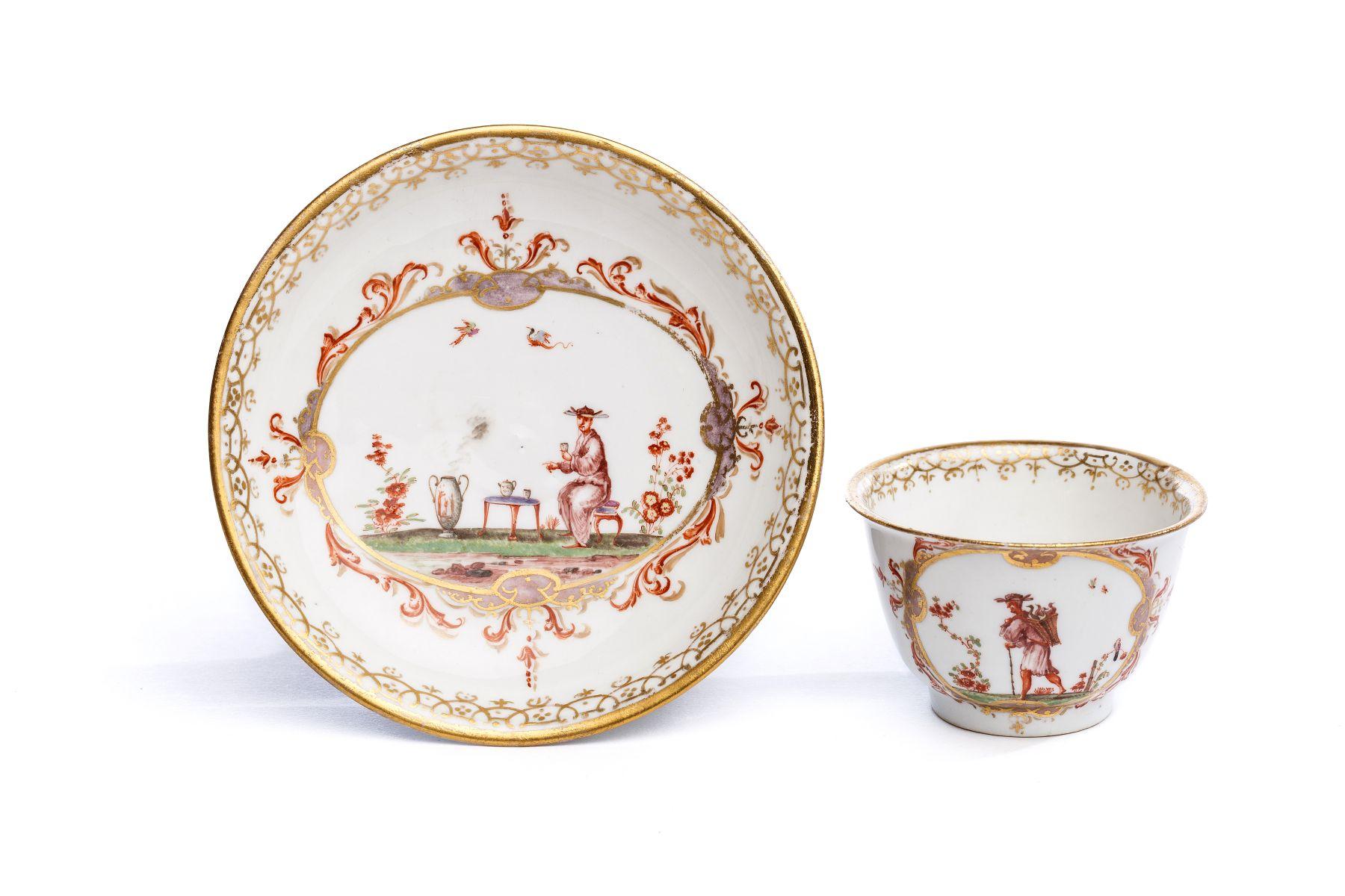 #15 Bowl with saucer, Meissen 1720/25   Koppchen mit Unterschale, Meissen 1720/25 Image