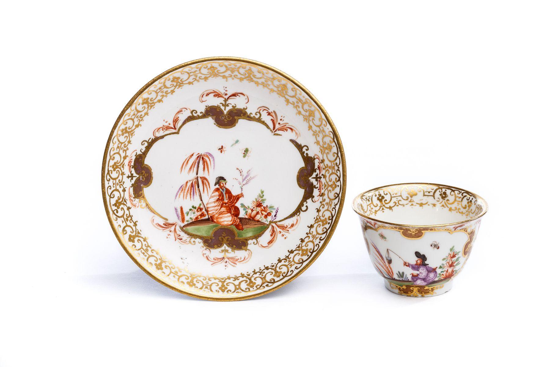 #16 Bowl with saucer, Meissen 1730/35   Koppchen mit Unterschale, Meissen 1730 Image