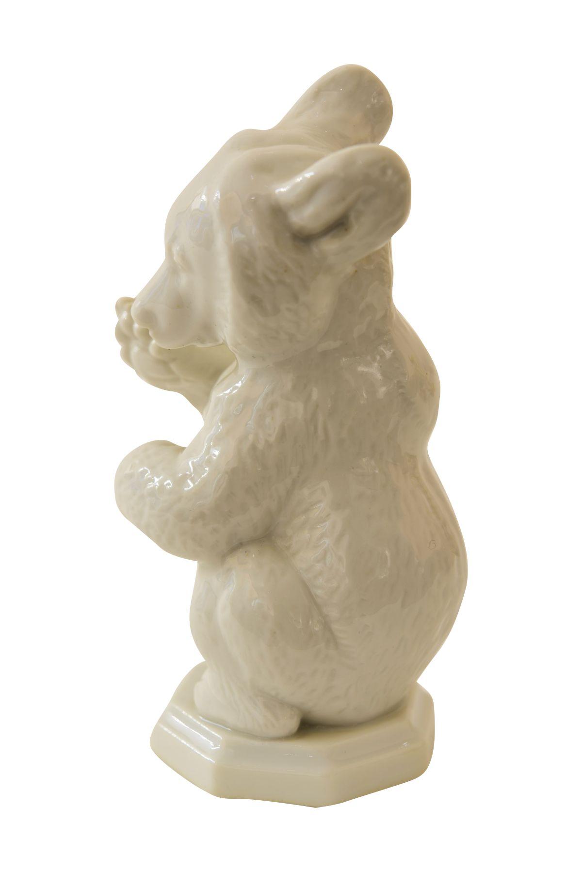 "#161 Bear begging Allach porcelain manufactory, Munich | "" Bär bittend"" Porzellanmanufaktur Allach, München Image"