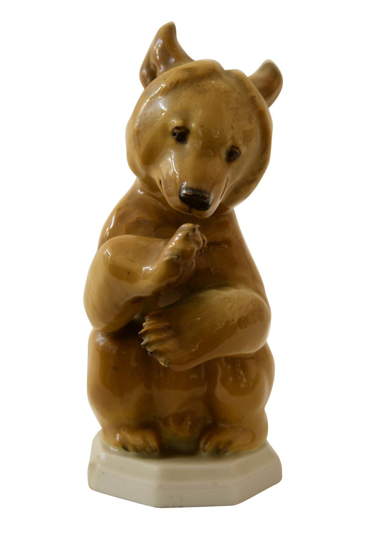 "#163 Angry Bear, Allach Porcelain Manufactory, Munich | ""Bär bittend"", Prozellanmanufaktur Allach, München Image"