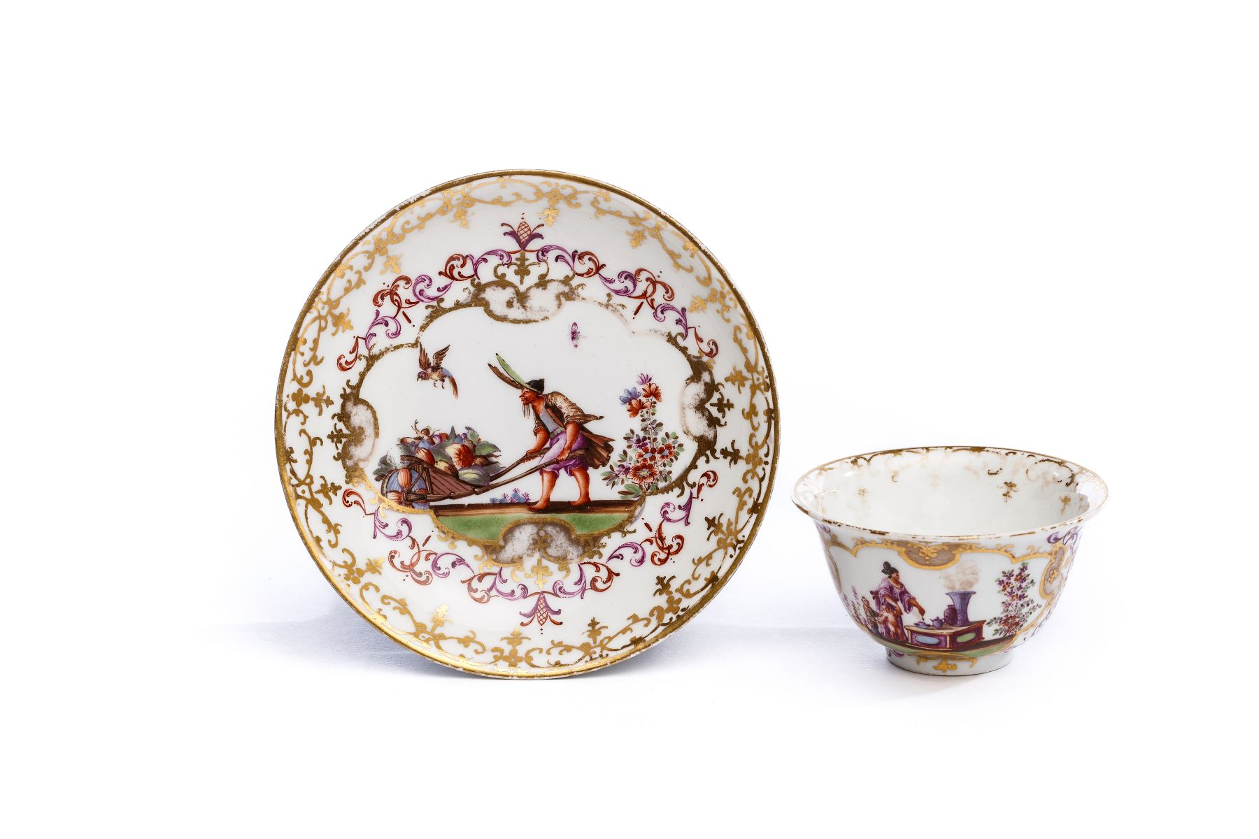 #17 Bowl with saucer, Meissen 1723/25 | Koppchen mit Unterschale, Meissen 1723/25 Image