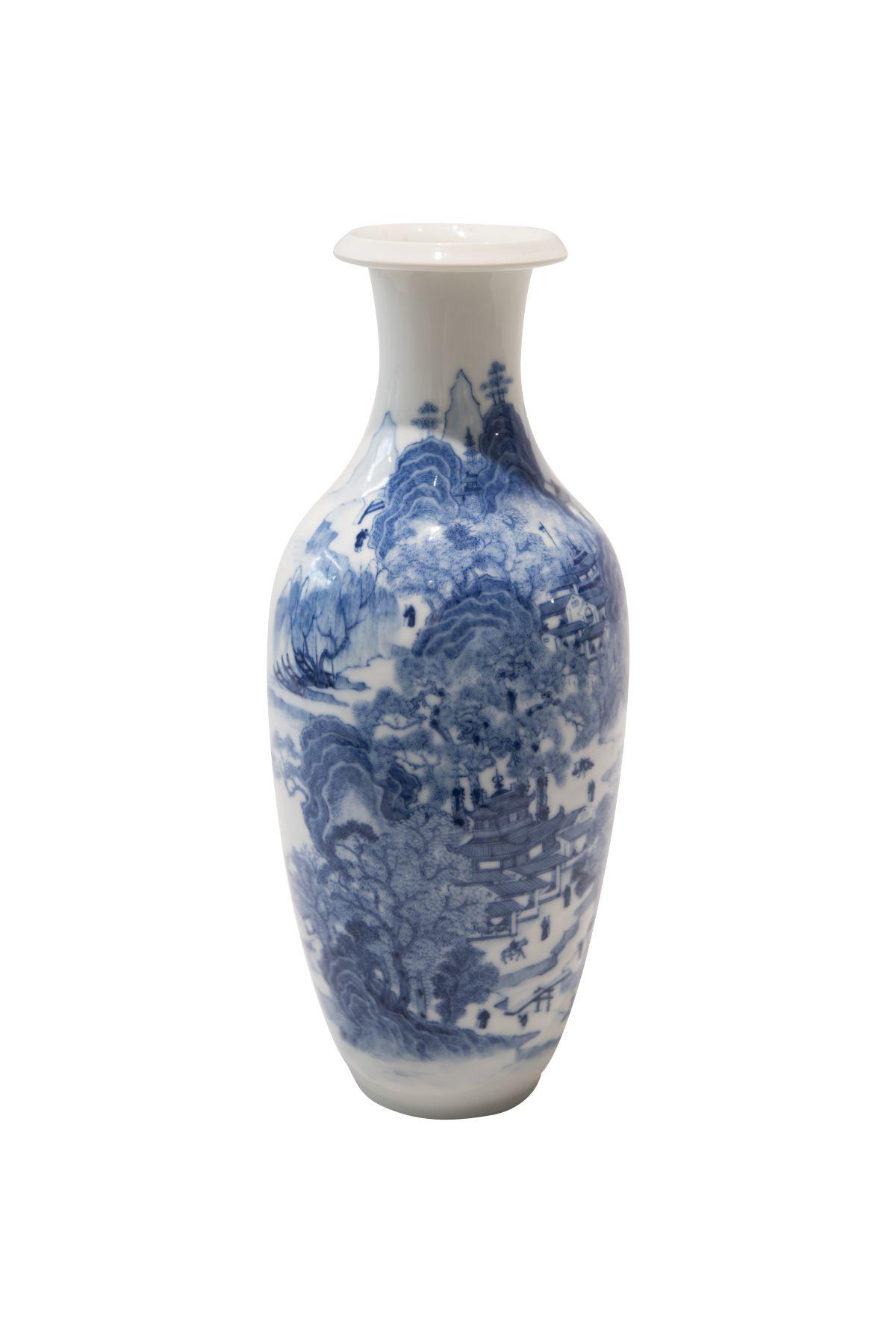 #179 Blue-white vase   Blau-weise Vase Image