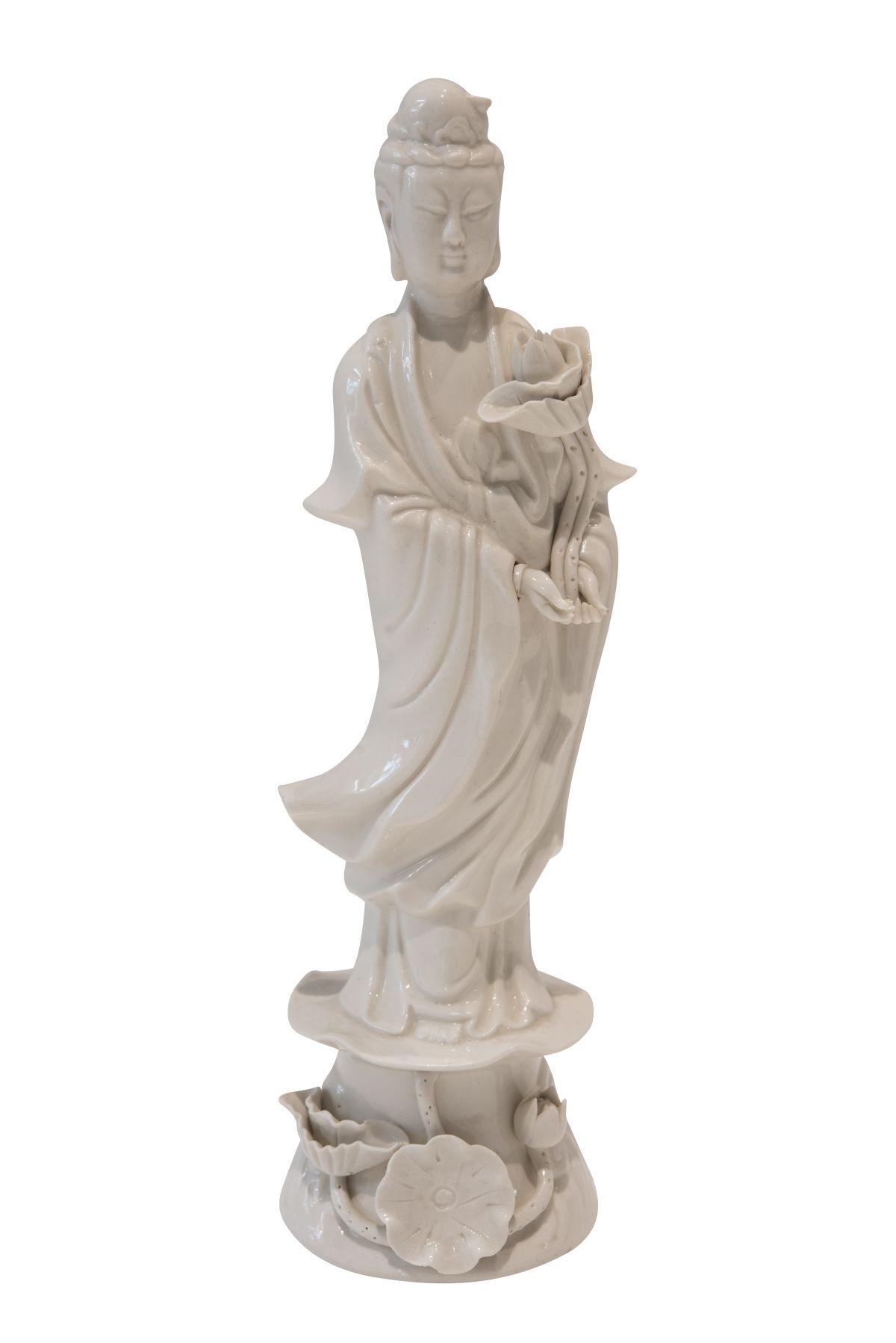 "#193 Blanc de Chine ""Guanyin"", porcelain figure   Blanc de Chine ""Guanyin"", Porzellanfigur Image"