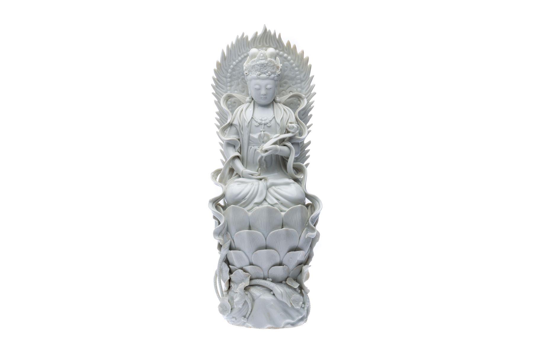 "#194 Blanc de Chine ""Goddess Guanyin"" Dehua porcelain figurine   Blanc de Chine"" Göttin Guanyin"" Figur aus Dehua Porzellan Image"