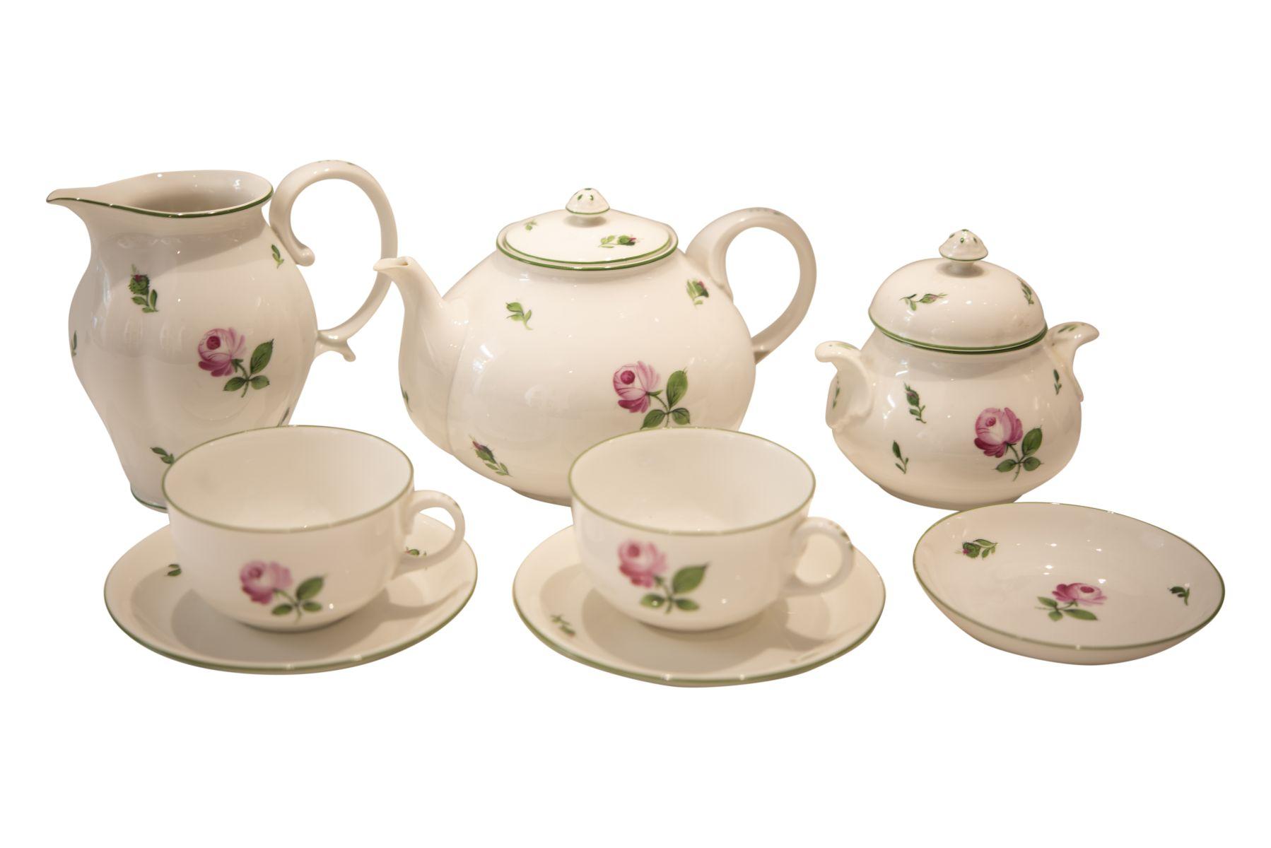 "#209 Tea service ""Viennese Rose"", Augarten | Tee Service ""Wiener Rose"", Augarten Image"