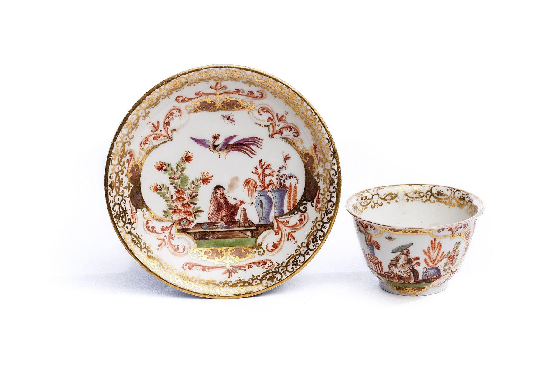 #21 Bowl with Saucer, Meissen 1730/35   Koppchen mit Unterschale, Meissen 1730/35 Image