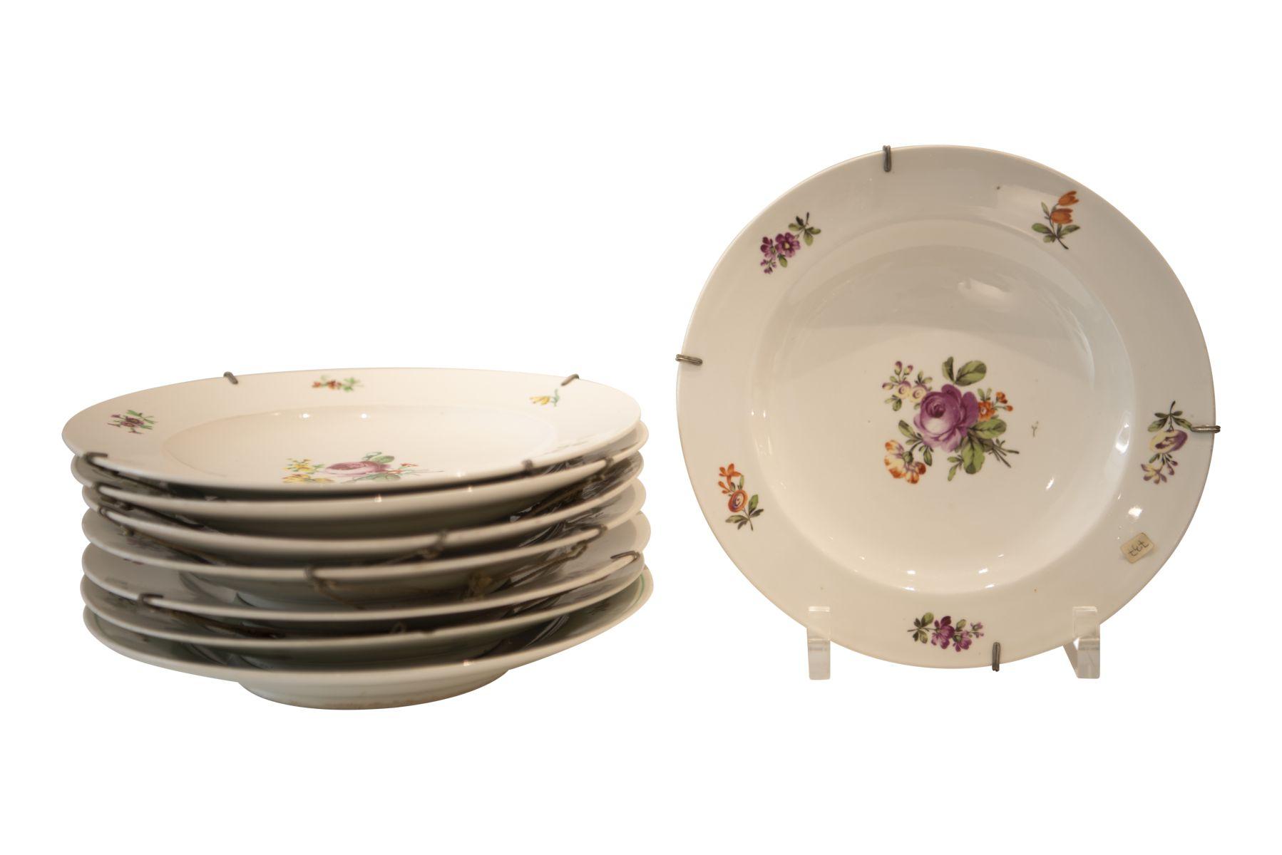 """#215 Augarten Old Vienna """"8 dinner plates   Augarten Alt Wien """"8 Speiseteller"""" Image"""