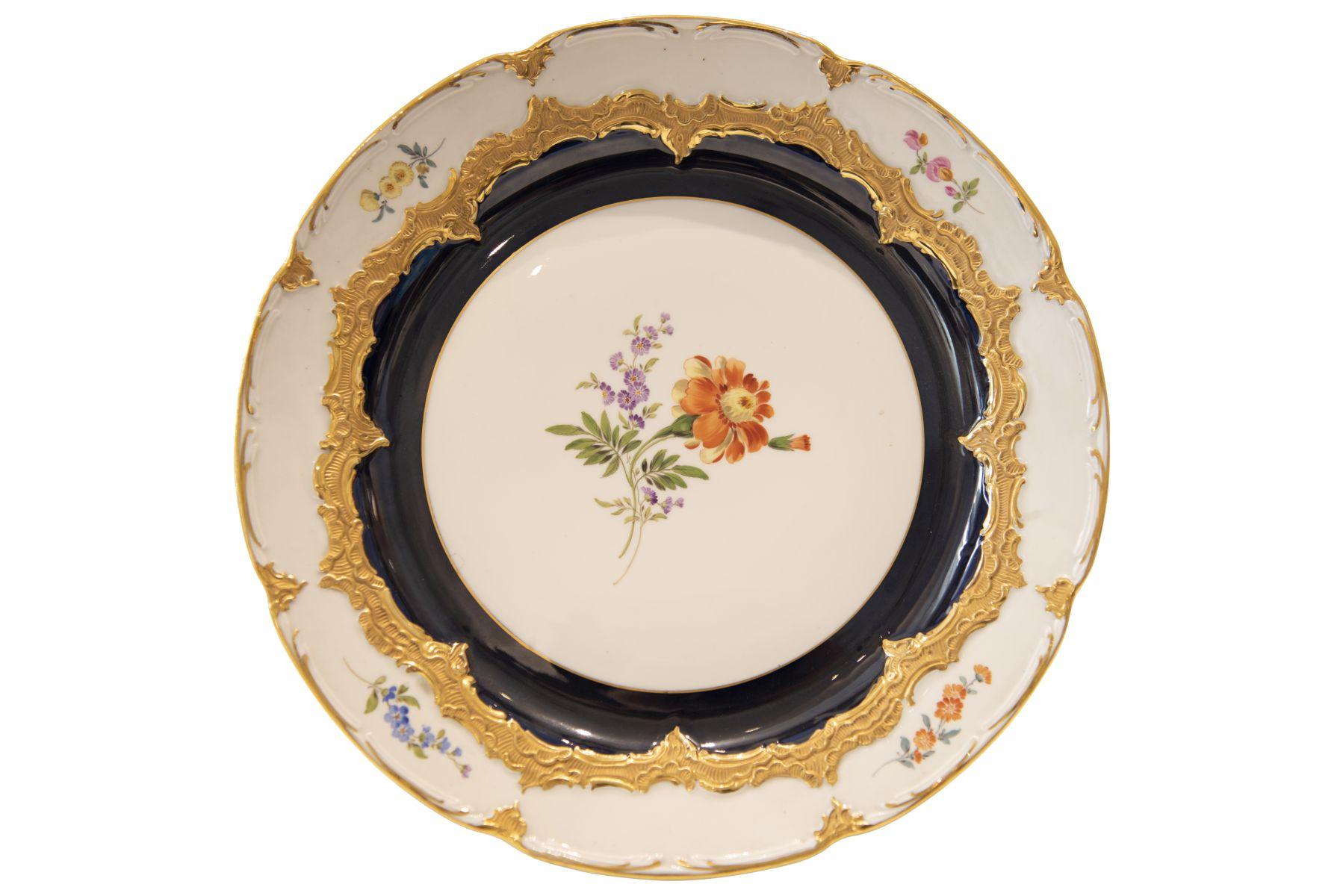 #228 Meissen ceremonial plate   Prunkteller Meissen Image