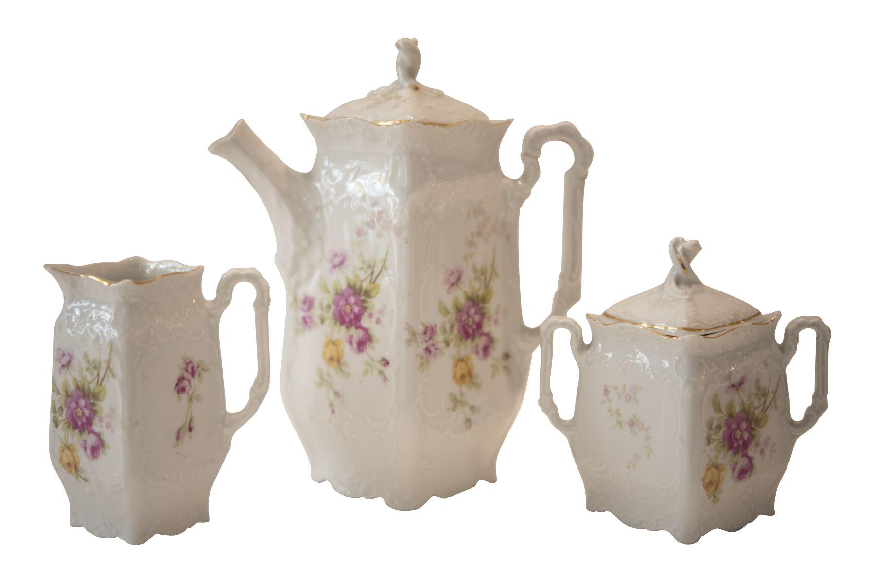 #231 3 piece porcelain set | 3 teiliges Porzellan Set Image