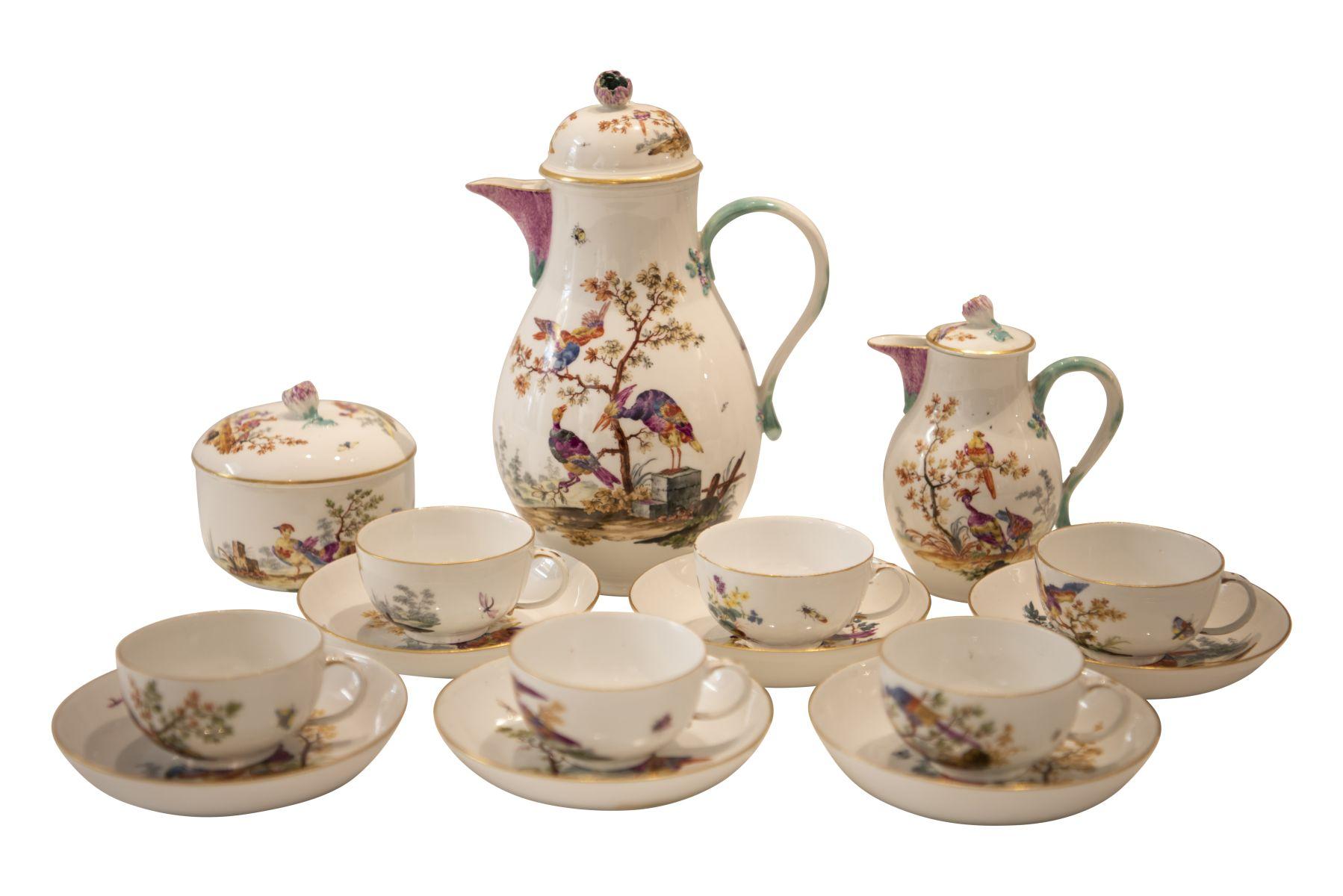 #248 9 piece porcelain service Meissen around 1763   9 teiliges Porzellan Service Meissen um 1763 Image
