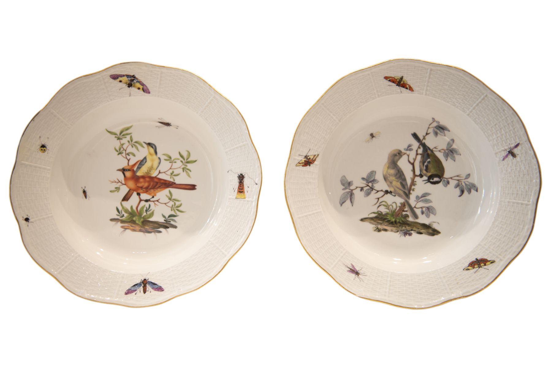 #273 2 Meissen soup plates   2 Suppenteller Meissen Image