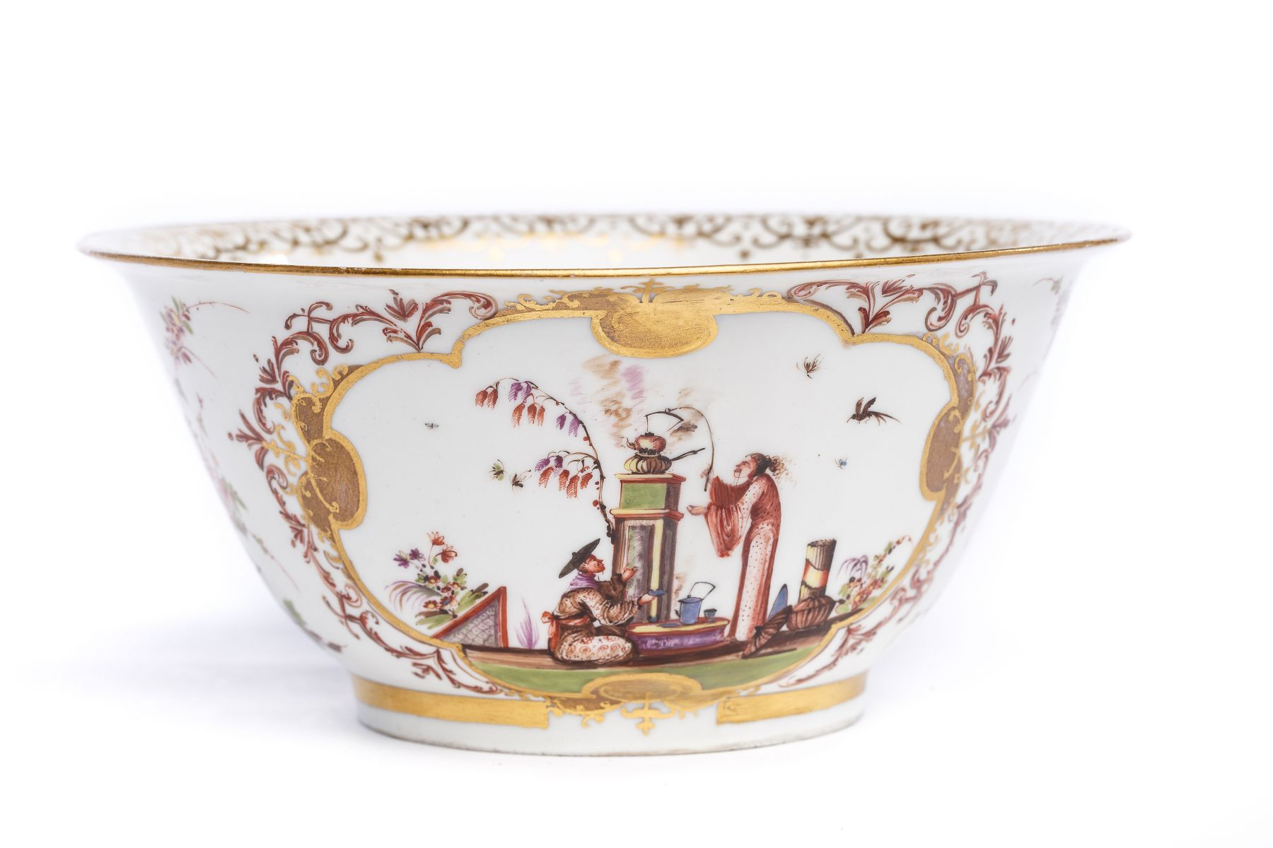 """#3 Rare bowl with """"Chinoiserie"""" scenes, Meissen 1723/25 