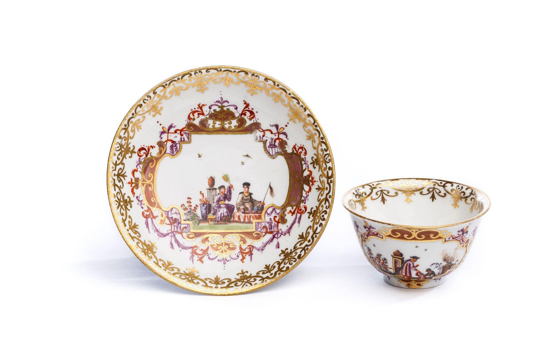 #34 Bowl with saucer, Meissen 1720/25 | Koppchen mit Unterschale, Meissen 1730 Image