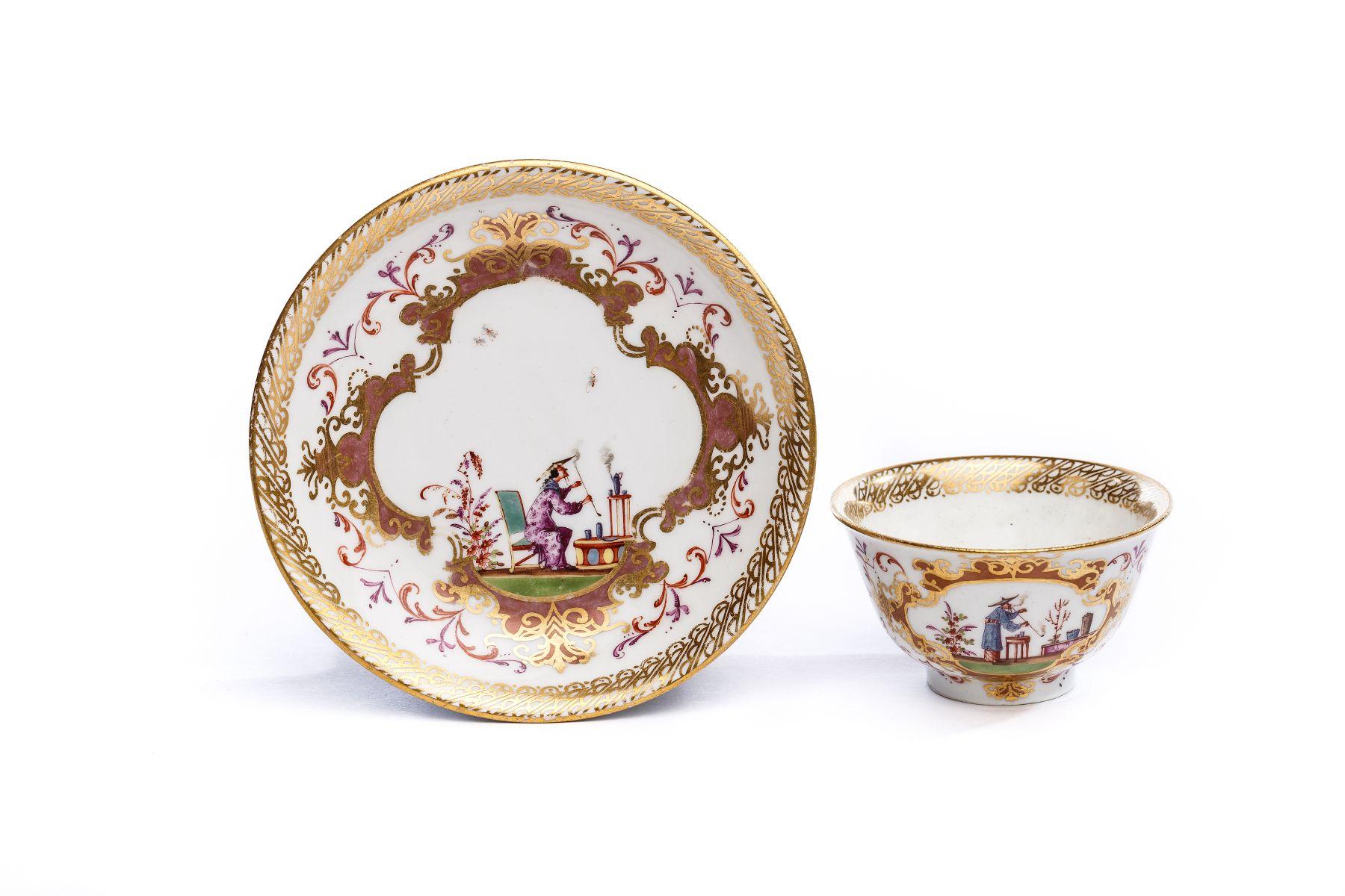 #36 Bowl with Saucer, Meissen 1723/25   Koppchen mit Unterschale, Meissen 1723/25 Image