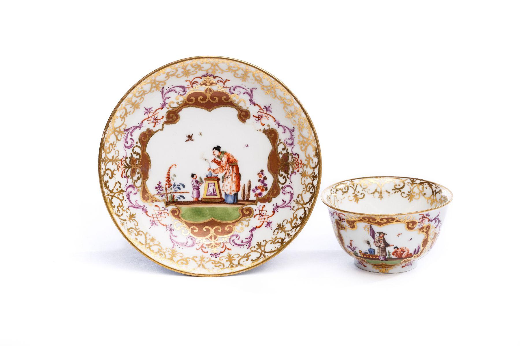 #39 Bowl with saucer, Meissen 1720/25   Koppchen mit Unterschale, Meissen 1723/25 Image