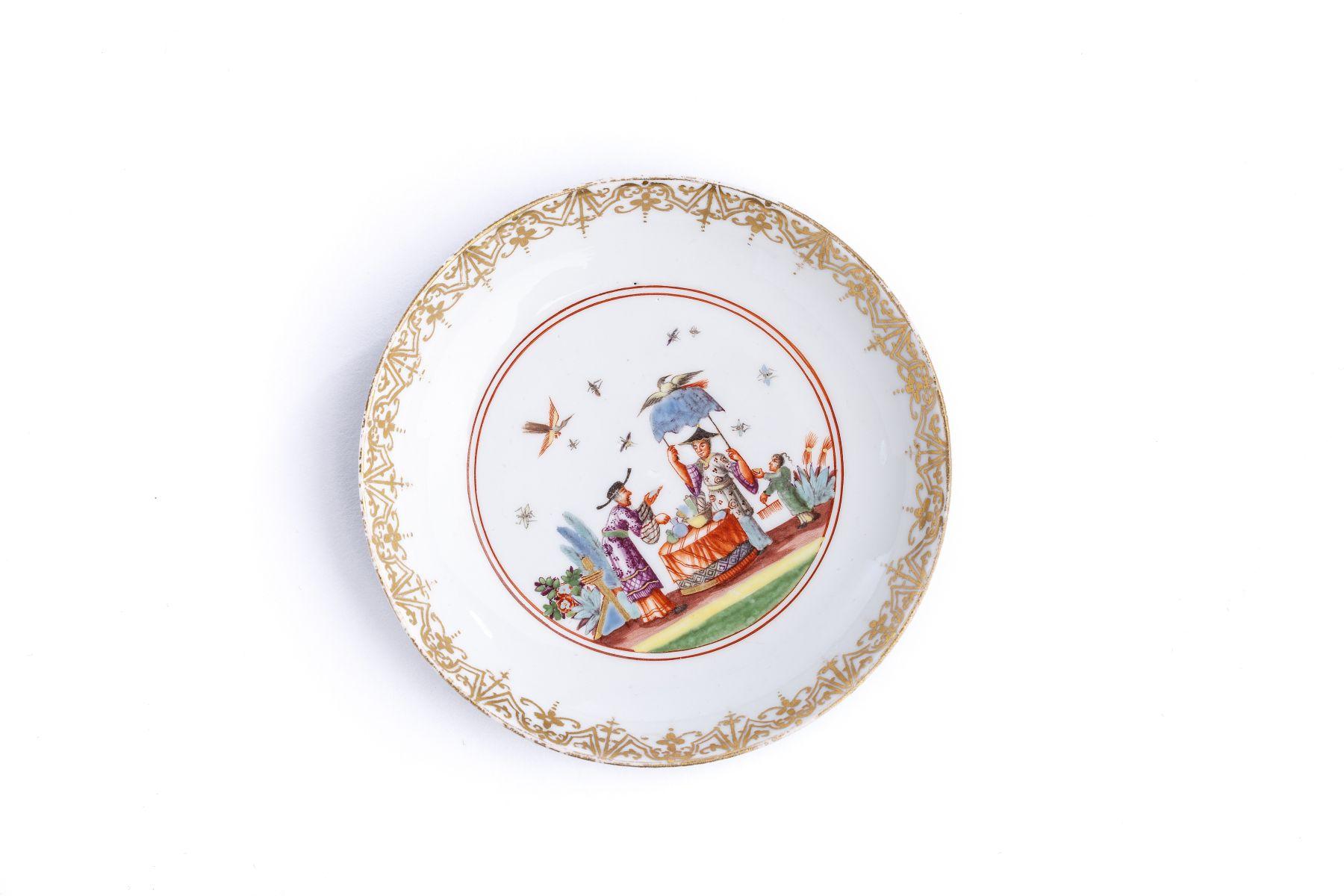 #5 Small Saucer, Meissen 1730/35 | Kleine Unterschale, Meissen 1730/35 Image