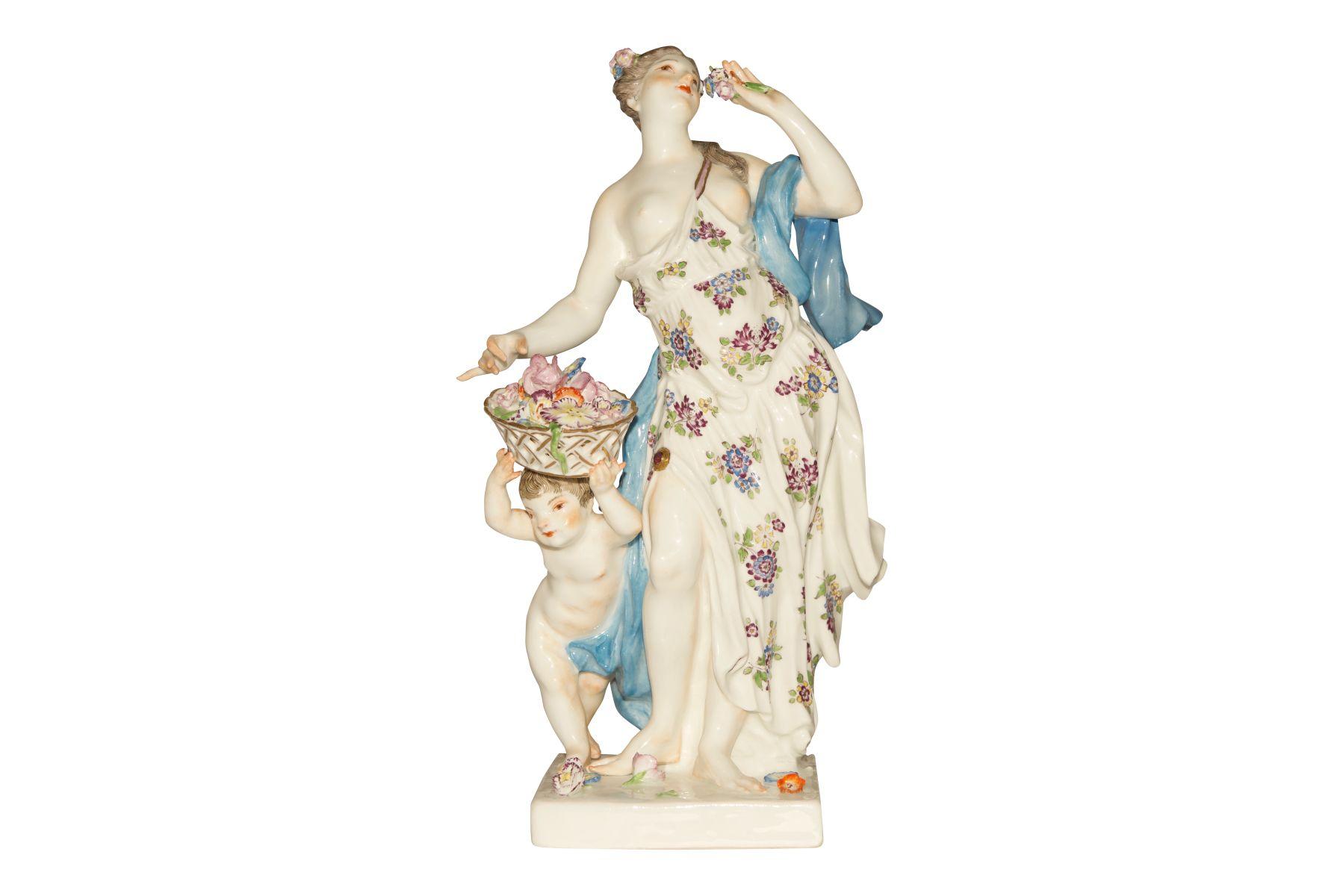 "#51 Spring figure Meissen 1750 | Grosse Figur""Frühling"" Meissen 1750 Image"