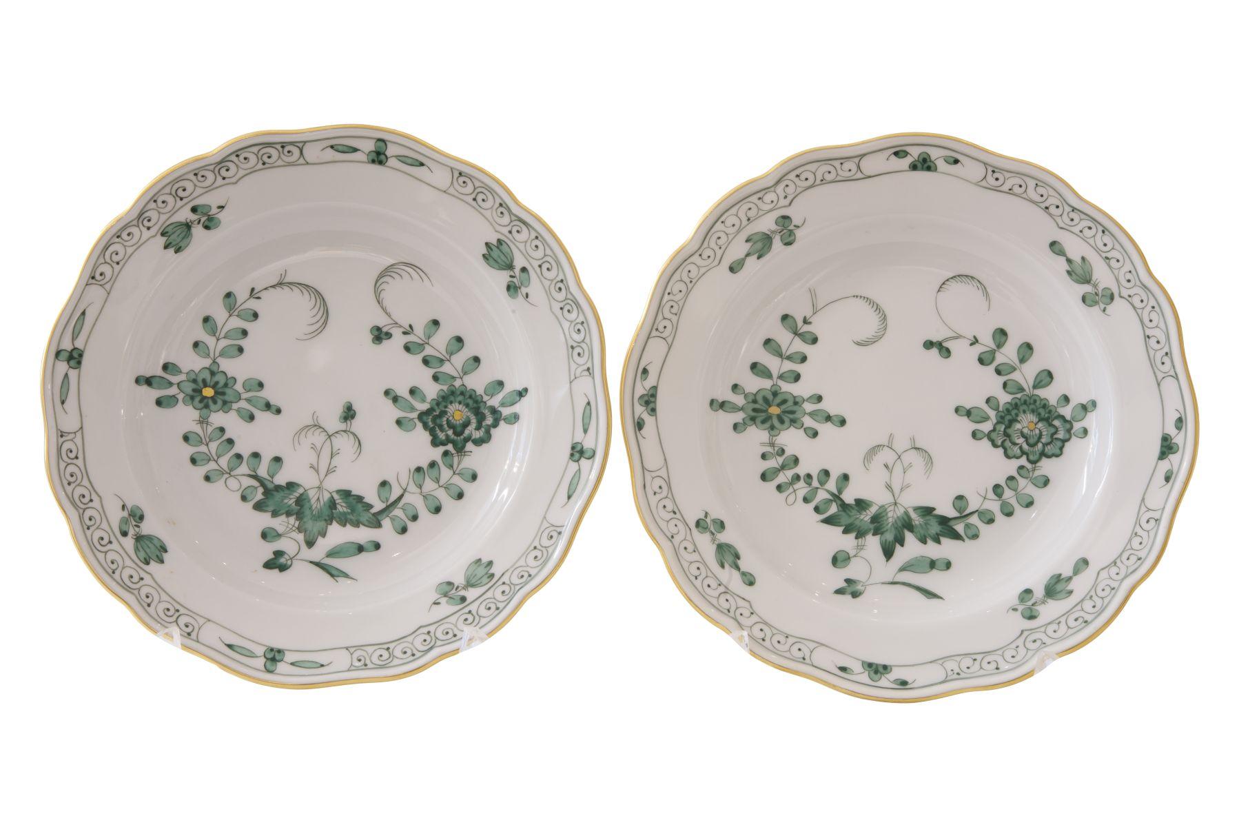 #93 2 plates Meissen 20th century | 2 kleine Teller Meissen 20, Jh Image