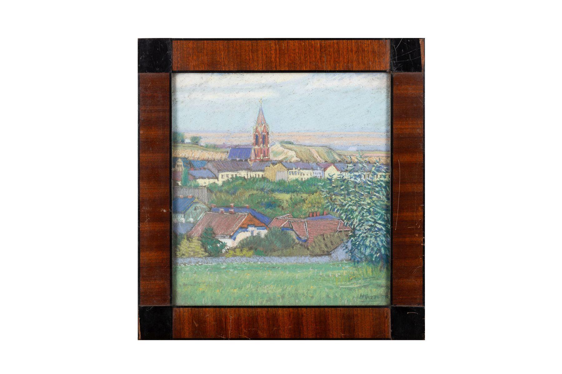 #103 View of the Döbling Church, Vienna Around 1900   Blick auf die Döblinger Kirche, Wien um 1900 Image