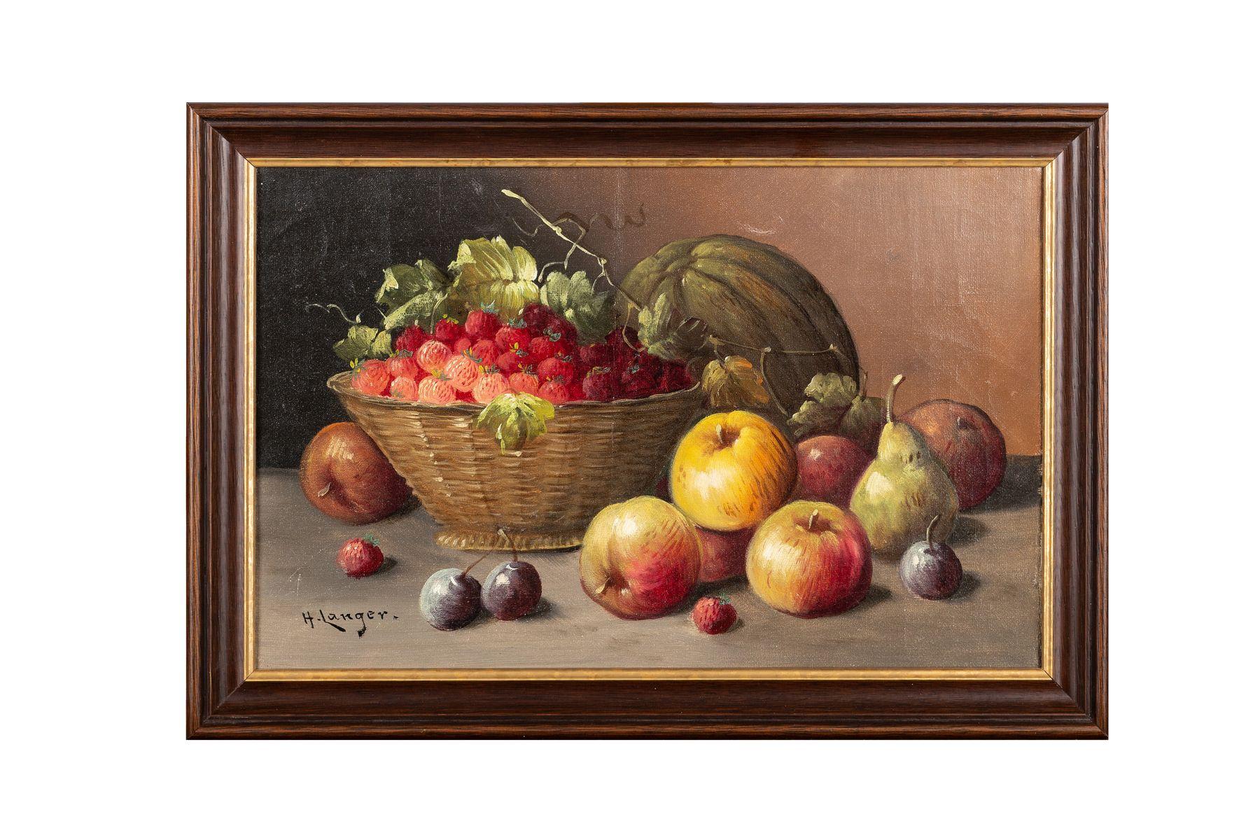 #104 H. Langer, Fruit Still Life, Around 1900 | H. Langer, Früchtestillleben, um 1900 Image