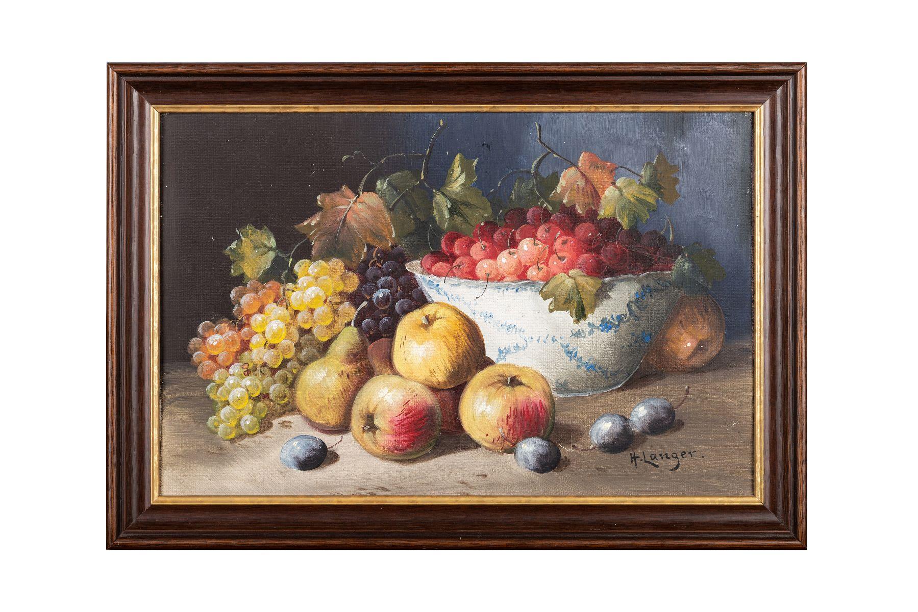 #105 H. Langer, Fruit Still Life, Around 1900   H. Langer, Früchtestillleben, um 1900 Image