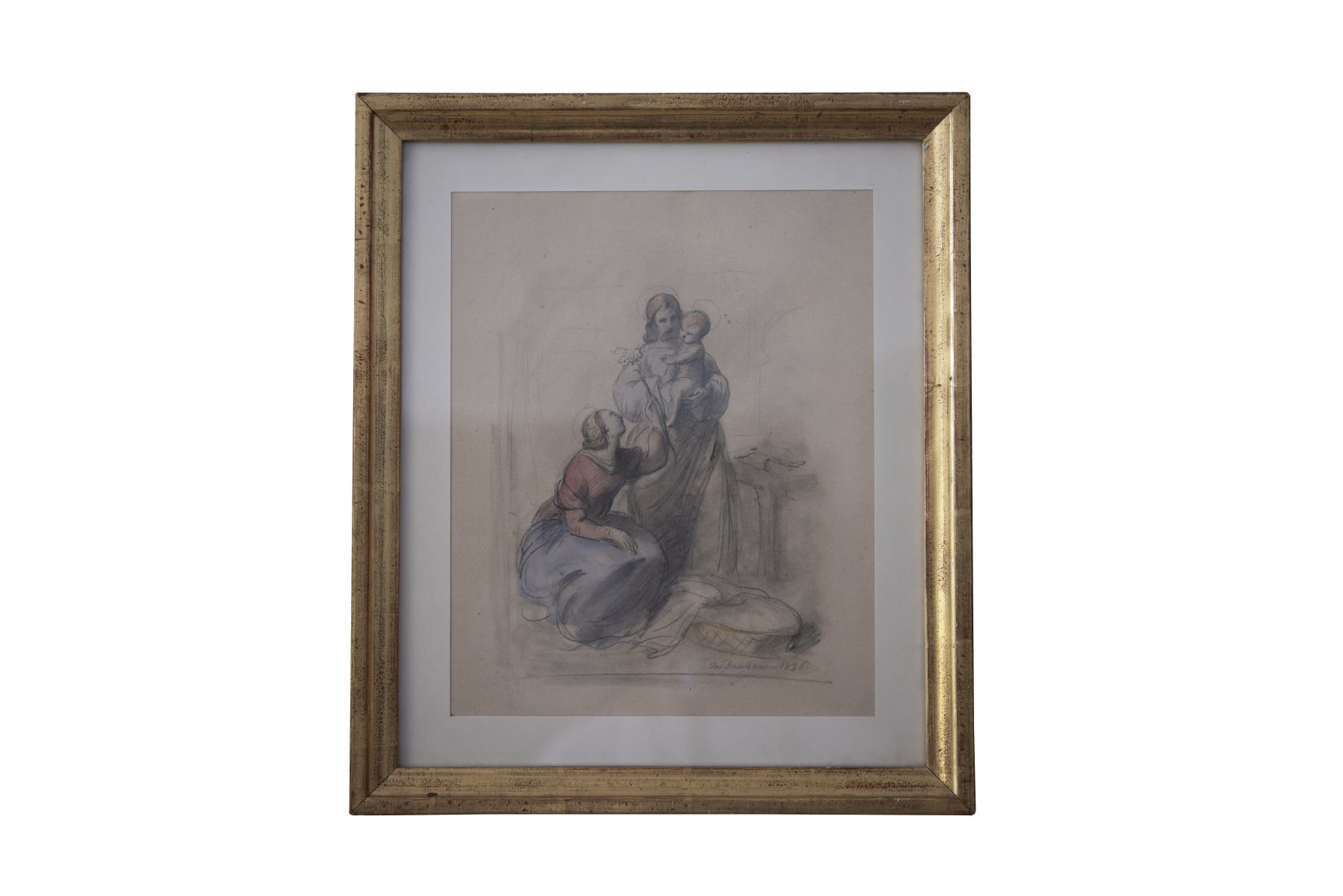 #112 Josef Danhauser (1805–1845), Holy Family, 1836, Vienna   Josef Danhauser (1805–1845), Heilige Familie, 1836, Wien Image