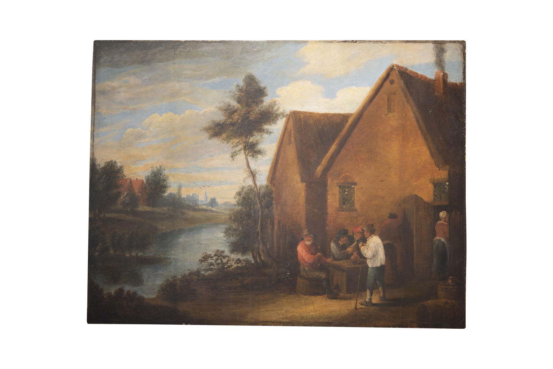 #118 In Front of the Tavern, 19th C.   Vor der Schenke, 19. Jh. Image