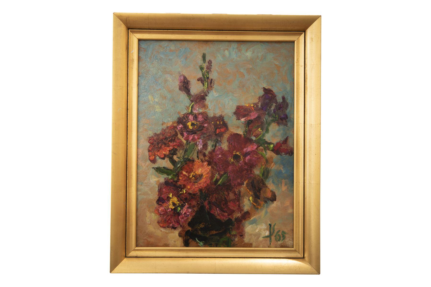 #132 Flower Still Life, monogrammed 1965 | Blumenstillleben, monogrammiert 1965 Image