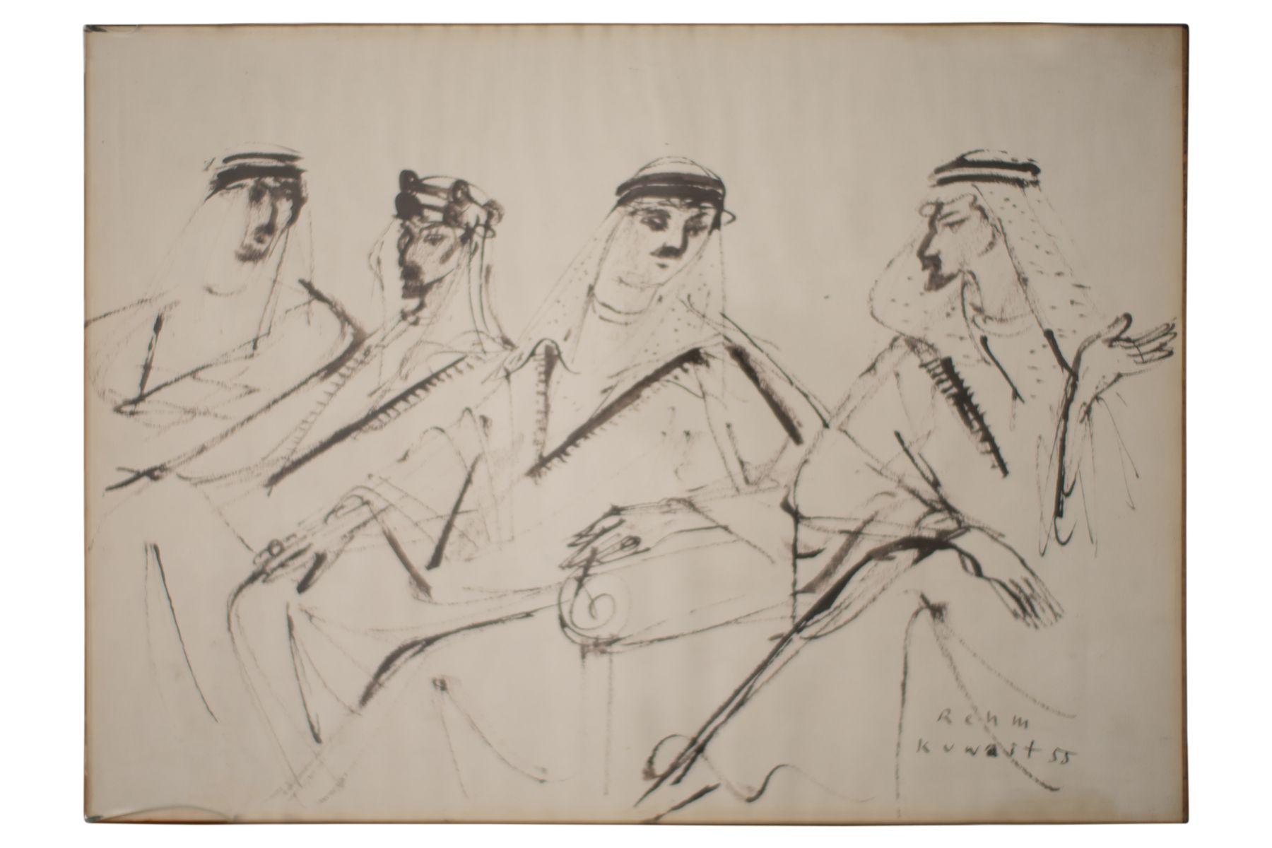 #141 Helmut Rehm (1911–1991), Portrait of Arabs, Kuwait, 1955 | Helmut Rehm (1911–1991), Porträt von Arabern, Kuwait, 1955 Image