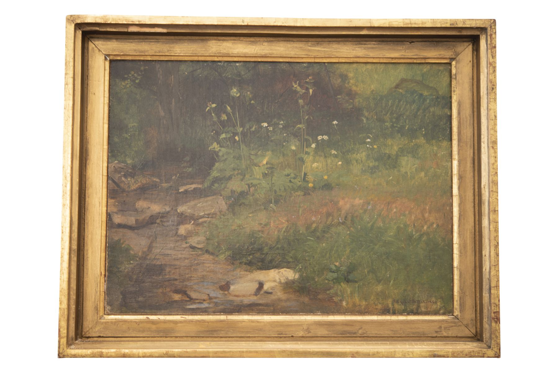 #148 Eugen Jettel (1845–1901), Meadow Landscape with Stream, 1880   Eugen Jettel (1845–1901), Wiesenlandschaft mit Bach, 1880 Image