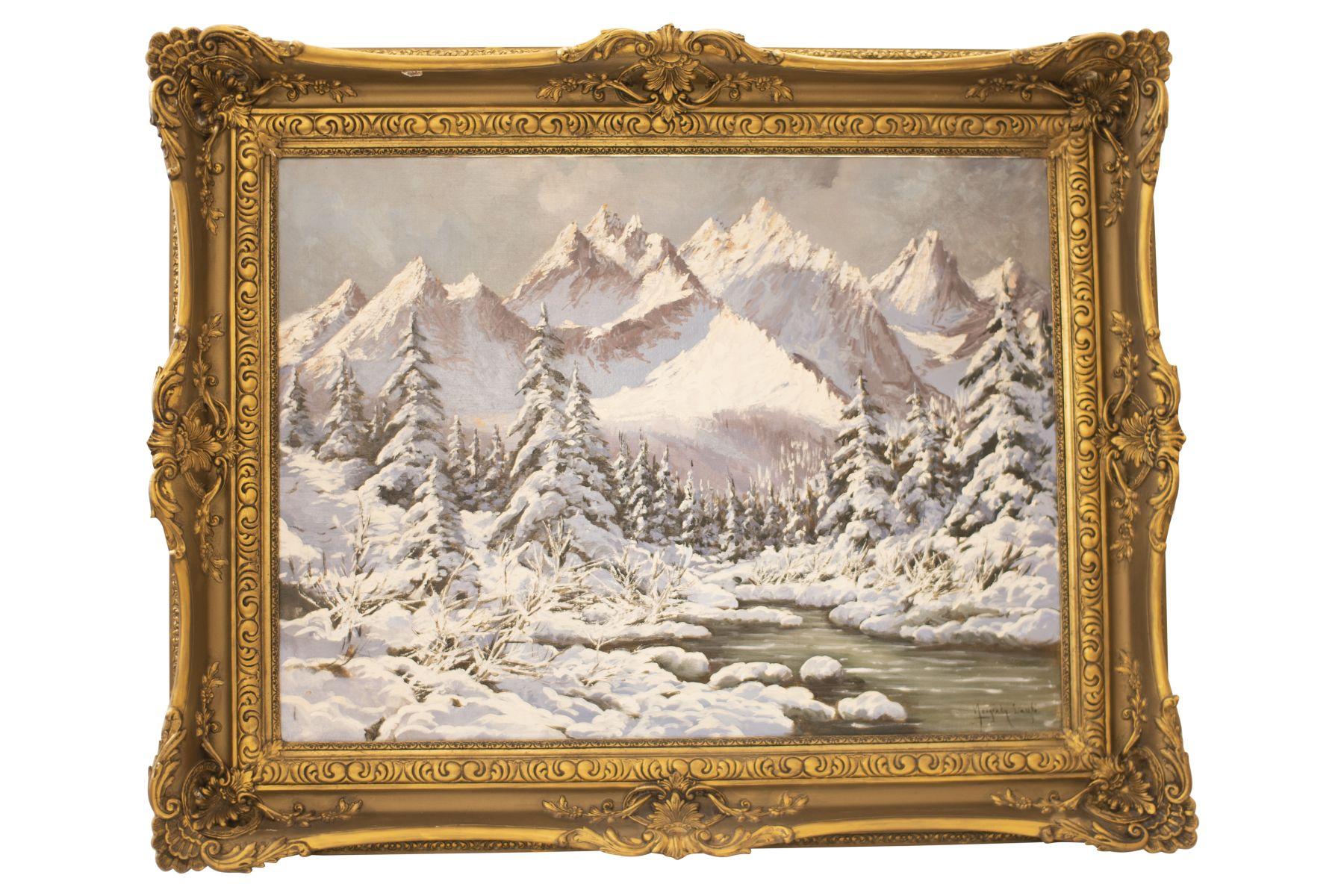 #149 Laszlo Neogrady (1896–1962), Winter Landscape   Laszlo Neogrady (1896–1962), Winterlandschaft Image