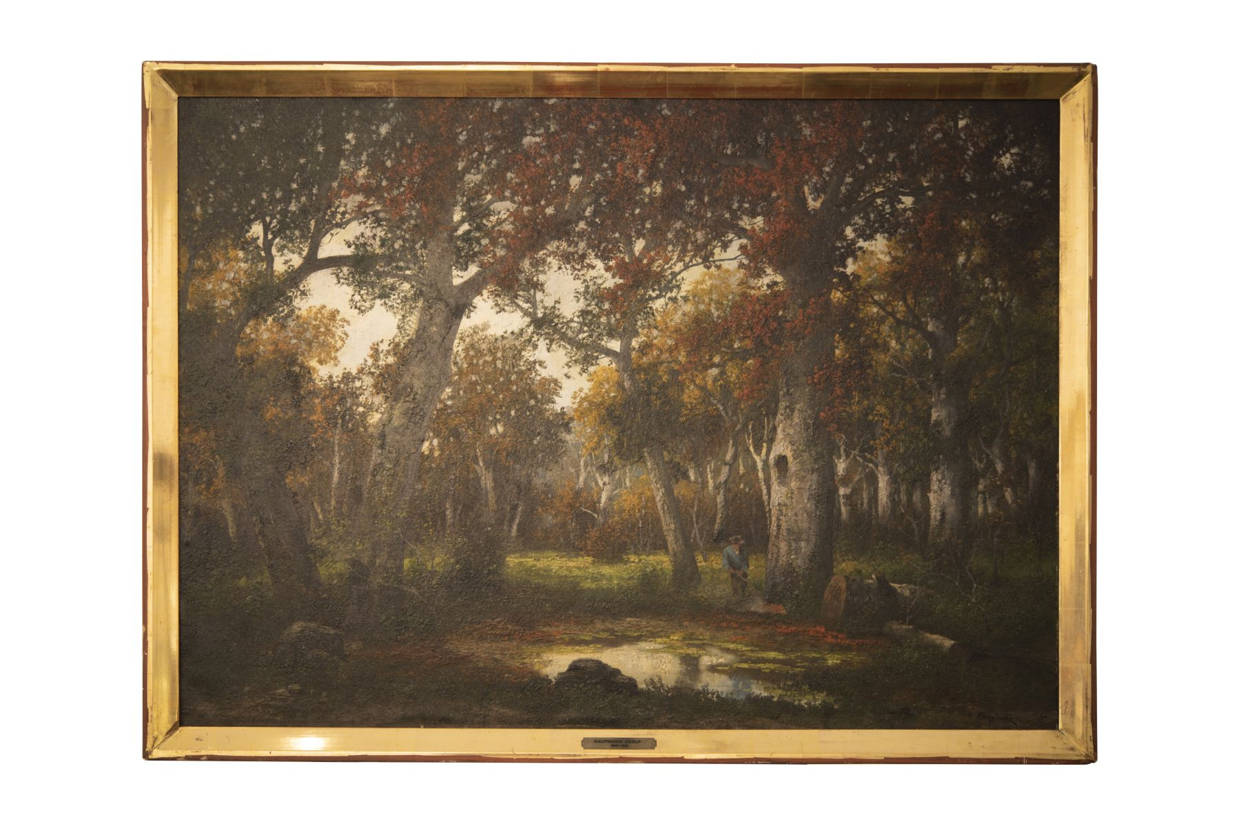 #161 Adolf Kaufmann (1848–1916), Wanderer in a Forest Clearing | Adolf Kaufmann (1848–1916), Wanderer auf Waldlichtung Image