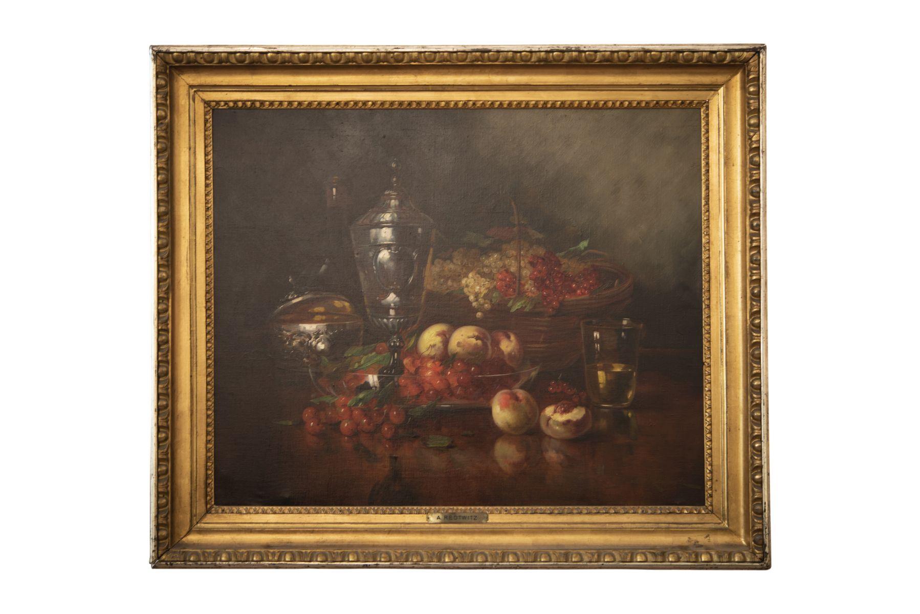 #162 A. Redtwitz (1871–1965), Still Life of Fruits   A. Redtwitz (1871–1965), Früchtestillleben Image