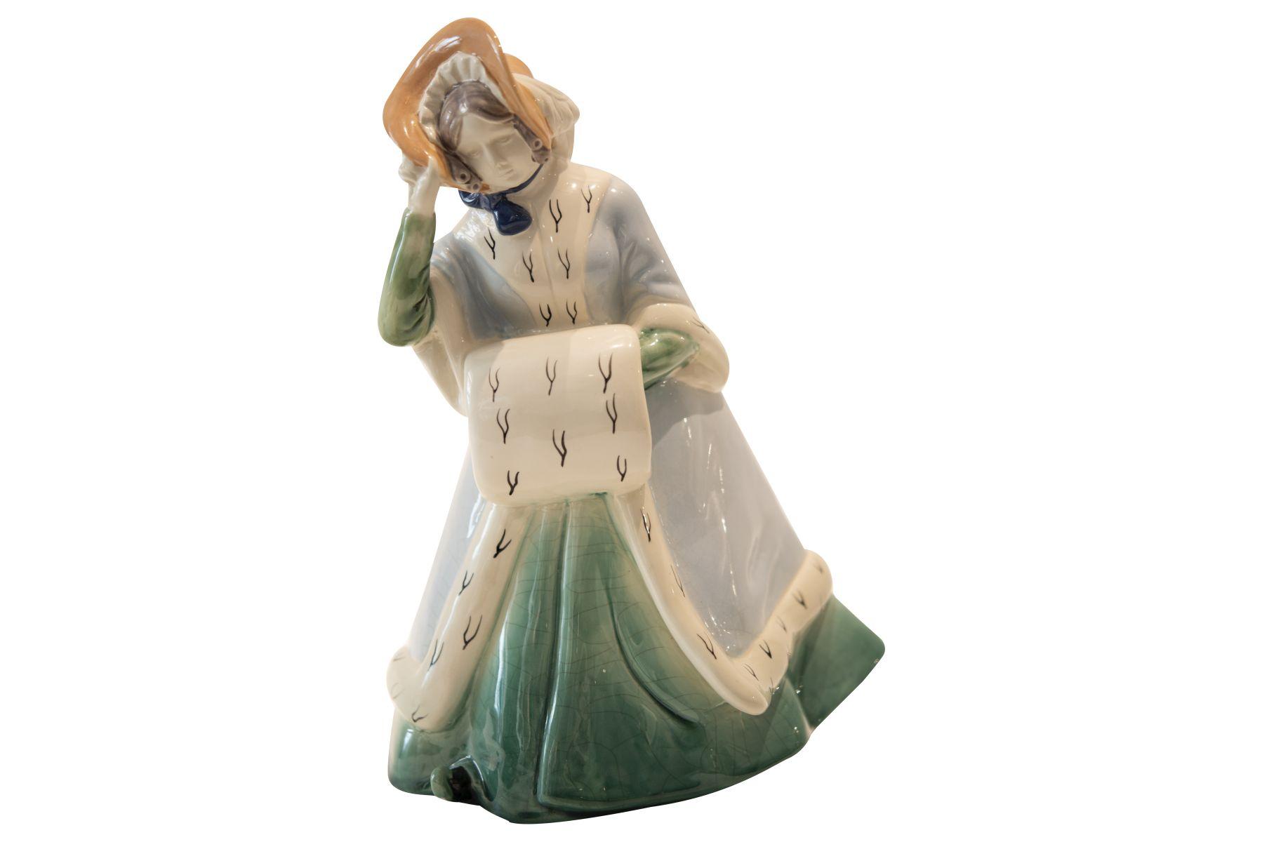 #180 Porcelain Figure, Crinoline Winter, Around 1910 | Porzellanfigur, Krinoline Winter, um 1910 Image