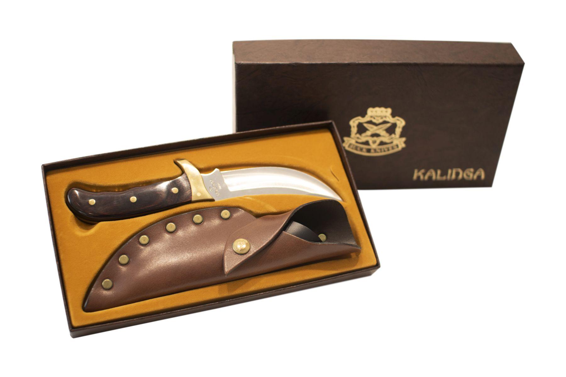 #199 Hunting Knife with Sheath in a Cardboard Box   Jagdmesser mit Scheide in einem Karton Image