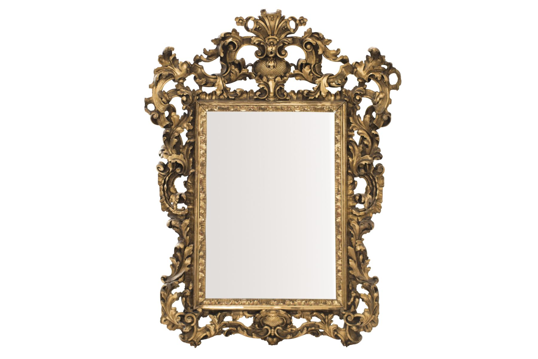#33 Baroque Style Salon Mirror, 19th C.   Barockstil Salonspiegel, 19. Jh. Image