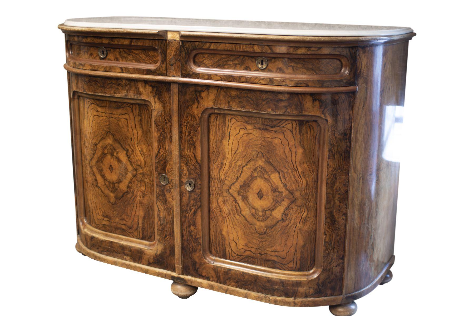 #39 Salon Dresser with Profiled Marble Top   Salon Kommode mit profilierter Marmorplatte Image