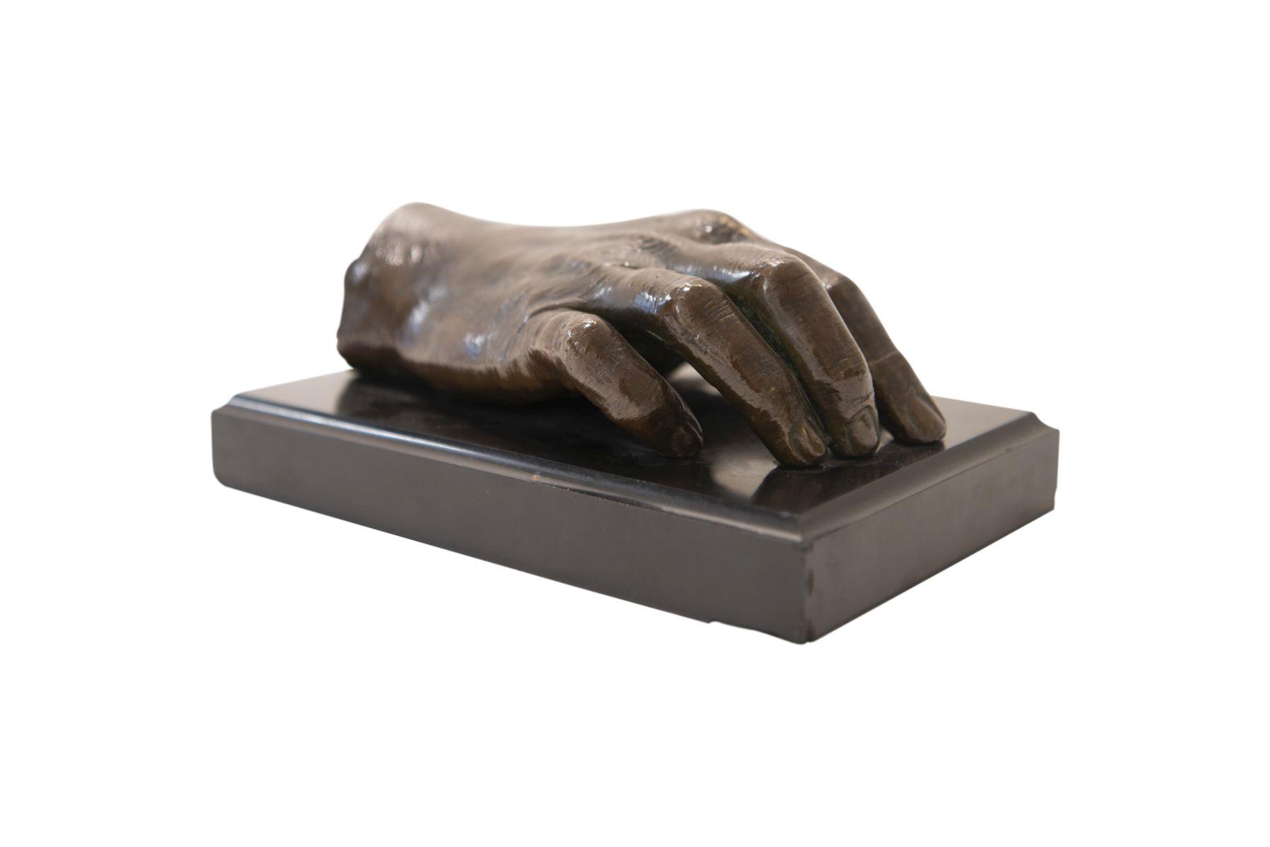 #53 Cast Bronze Right Hand (Handprint Dr. Ferdinand Sauerbruch) | Rechte Hand aus Bronzeguss (Handabdruck Dr. Ferdinand Sauerbruch) Image