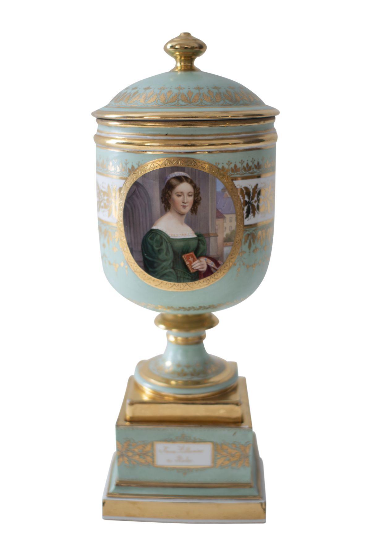 #55 Attributed to Joseph Karl Stieler (1781–1858), Biedermeier Trophy   Zugeschrieben Joseph Karl Stieler (1781–1858), Biedermeier Pokal Image