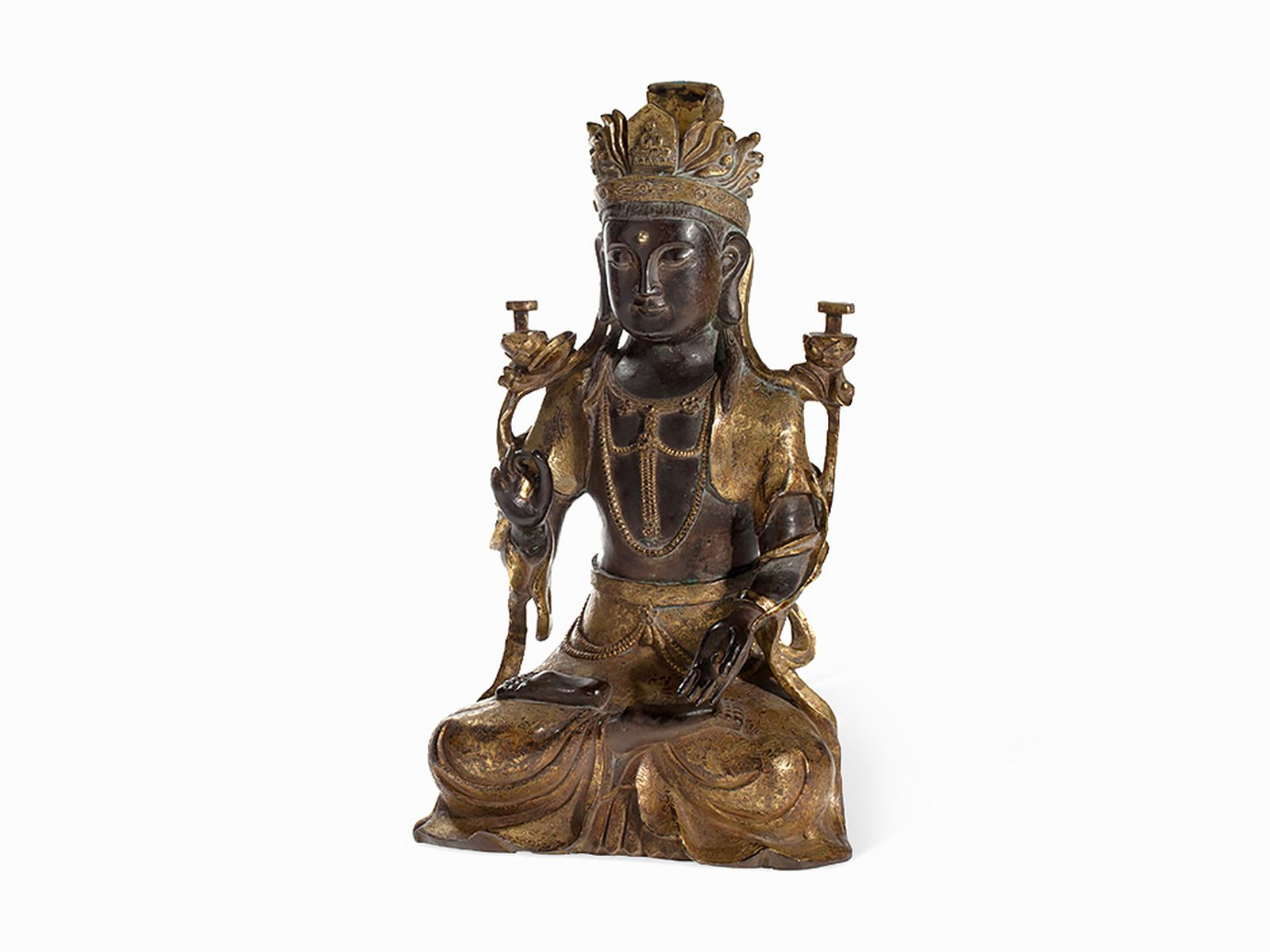 #57 Gilt Bronze Figure of a Guanyin, Ming Style | Vergoldete Bronzefigur einer Guanyin, Ming-Stil Image
