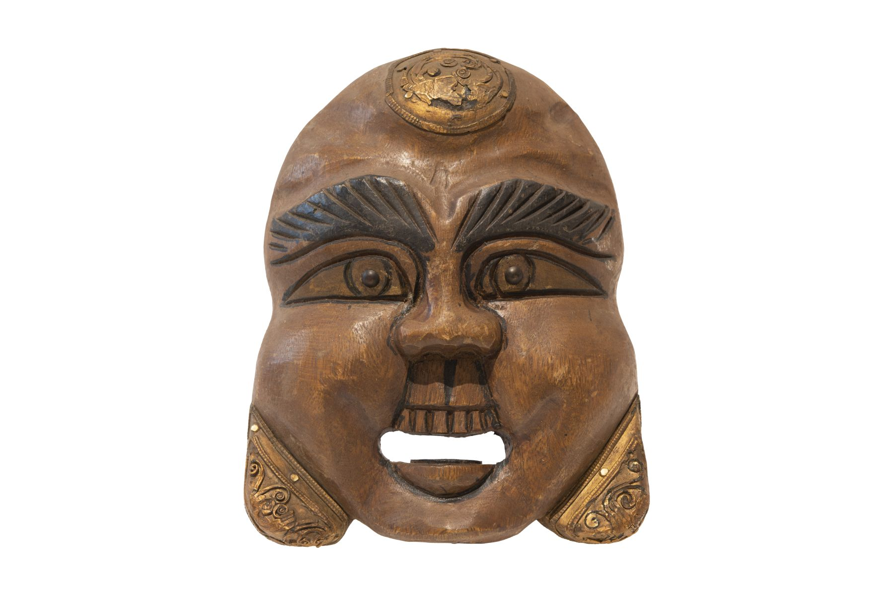#63 Laughing Wooden Mask, China   Lachende Holzmaske, China Image