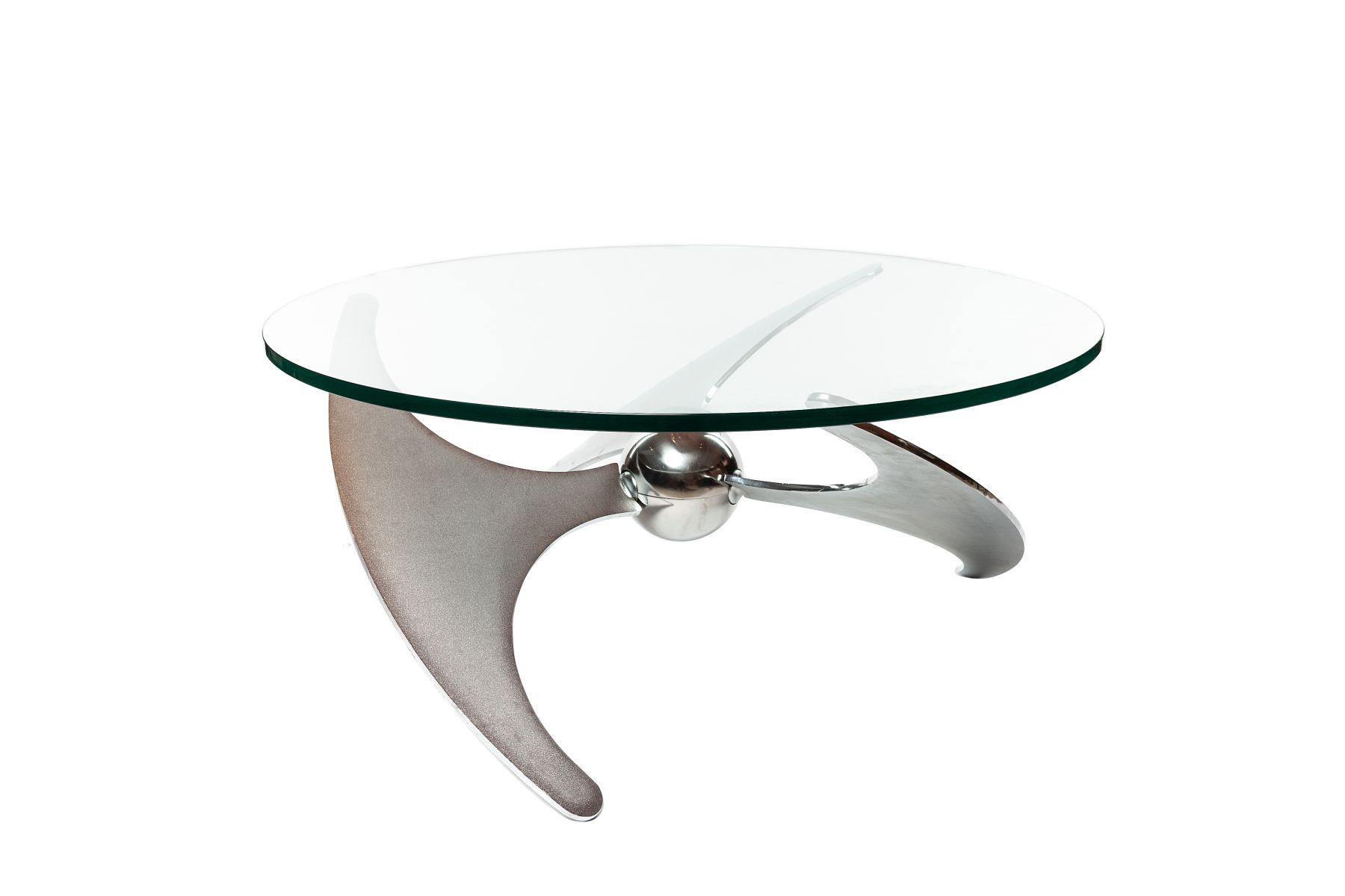 "#9 Luciano Campanini for Cama, ""Propeller Table"" | Luciano Campanini für Cama, ""Propellertisch"" Image"