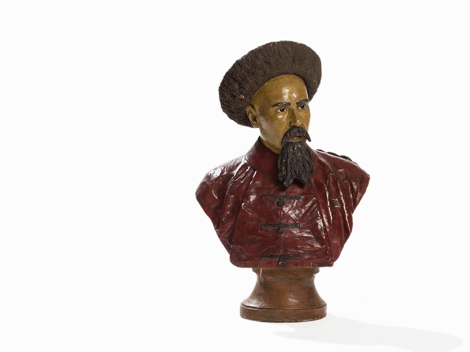 #92 Louis Fournier (1857–1917), Emperor Guangxu, Terracotta Bust, 1884   Louis Fournier (1857–1917), Kaiser Guangxu, Terrakottabüste, 1884 Image