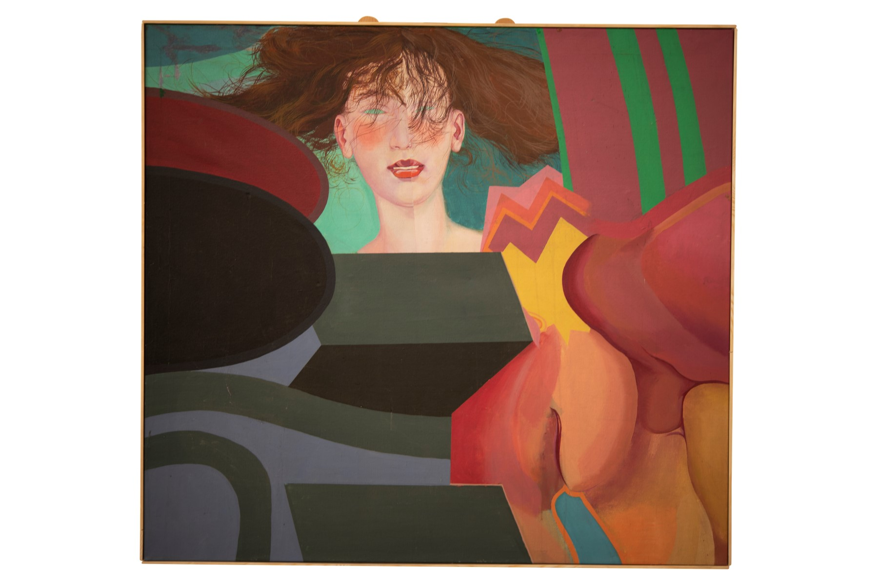#102 Erhard Stöbe* (1943), Abstract Composition with Woman