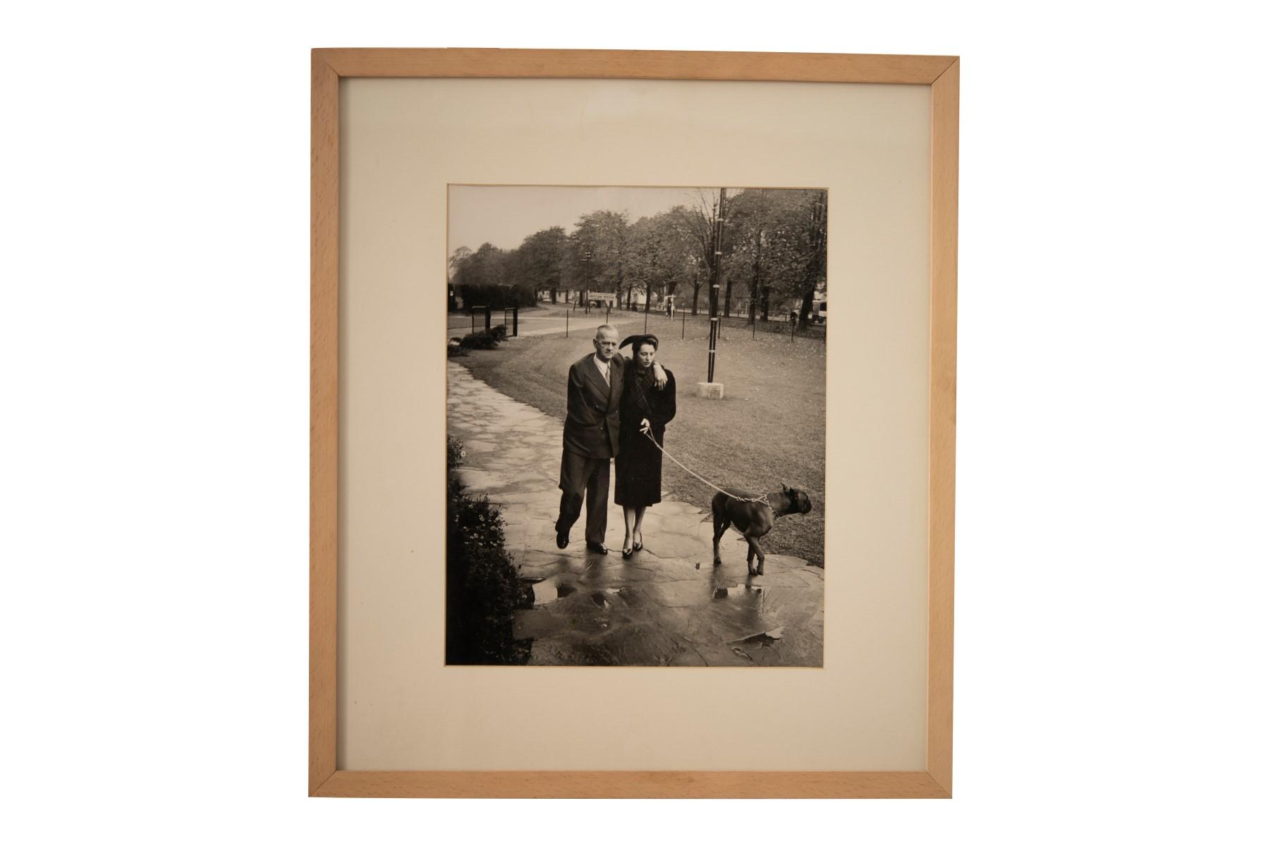#108 Erich Lessing (1923-2018), Schumacher und Annemarie Renger, 1951   Erich Lessing* (1923-2018), Schumacher und Annemarie Renger, 1951 Image