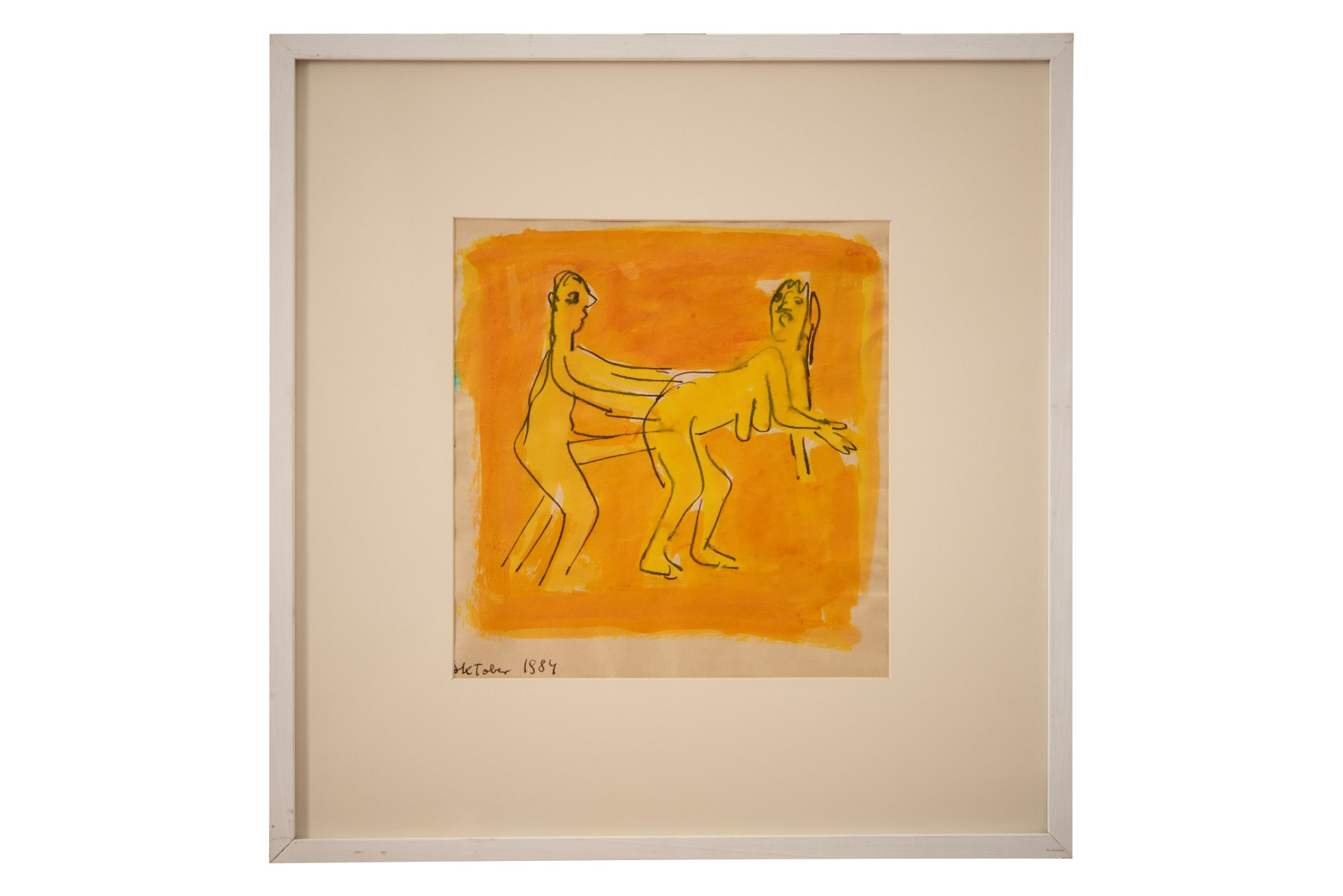 #116 Otto Mühl* (1925-2013), Act of love, 1984   Otto Mühl* (1925-2013), Liebesakt, 1984 Image